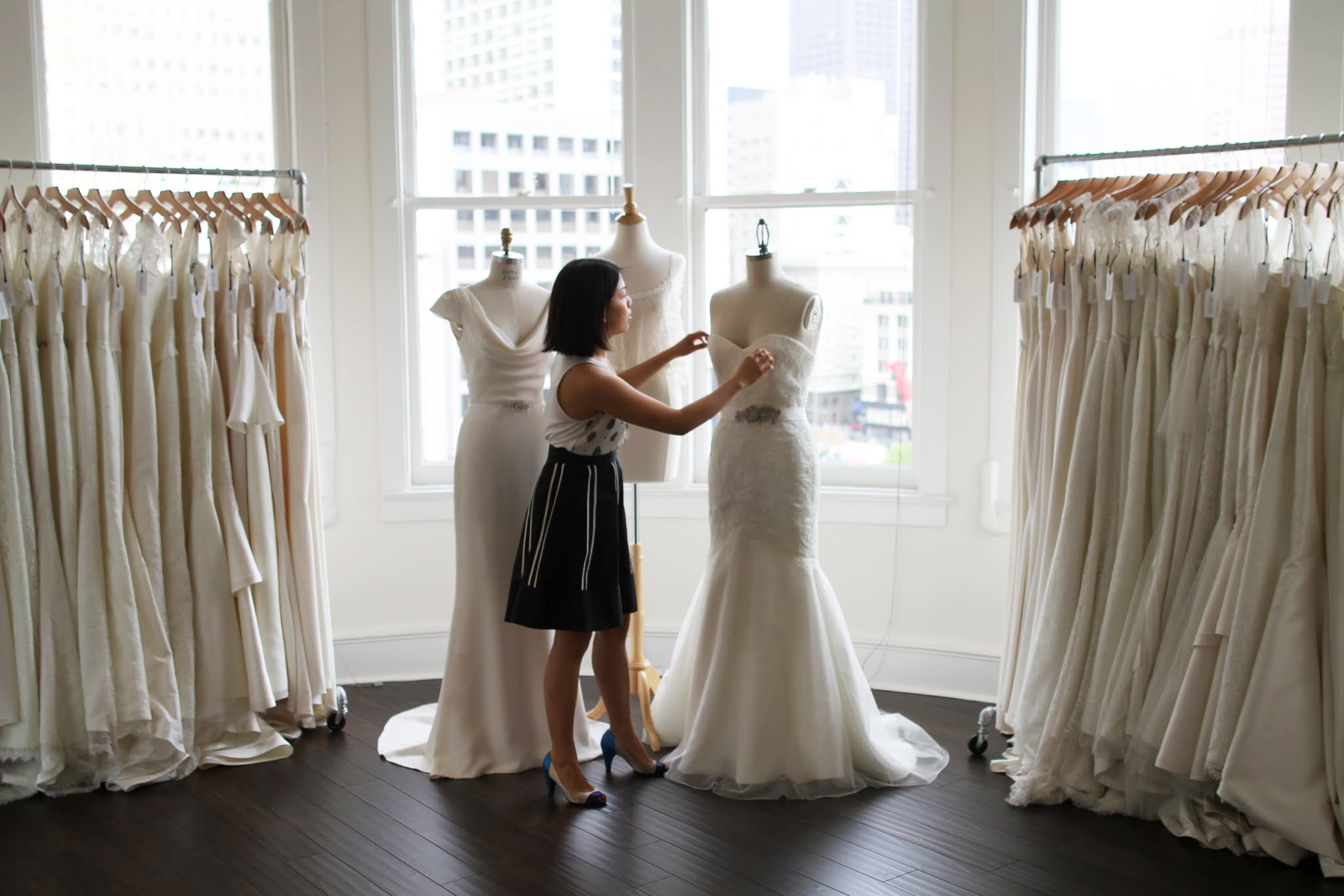 Located on the top floor of the historic landmark Elkan Gunst building, Trish Lee Bridal San Francisco strives for  CONSCIOUS DESIGN .