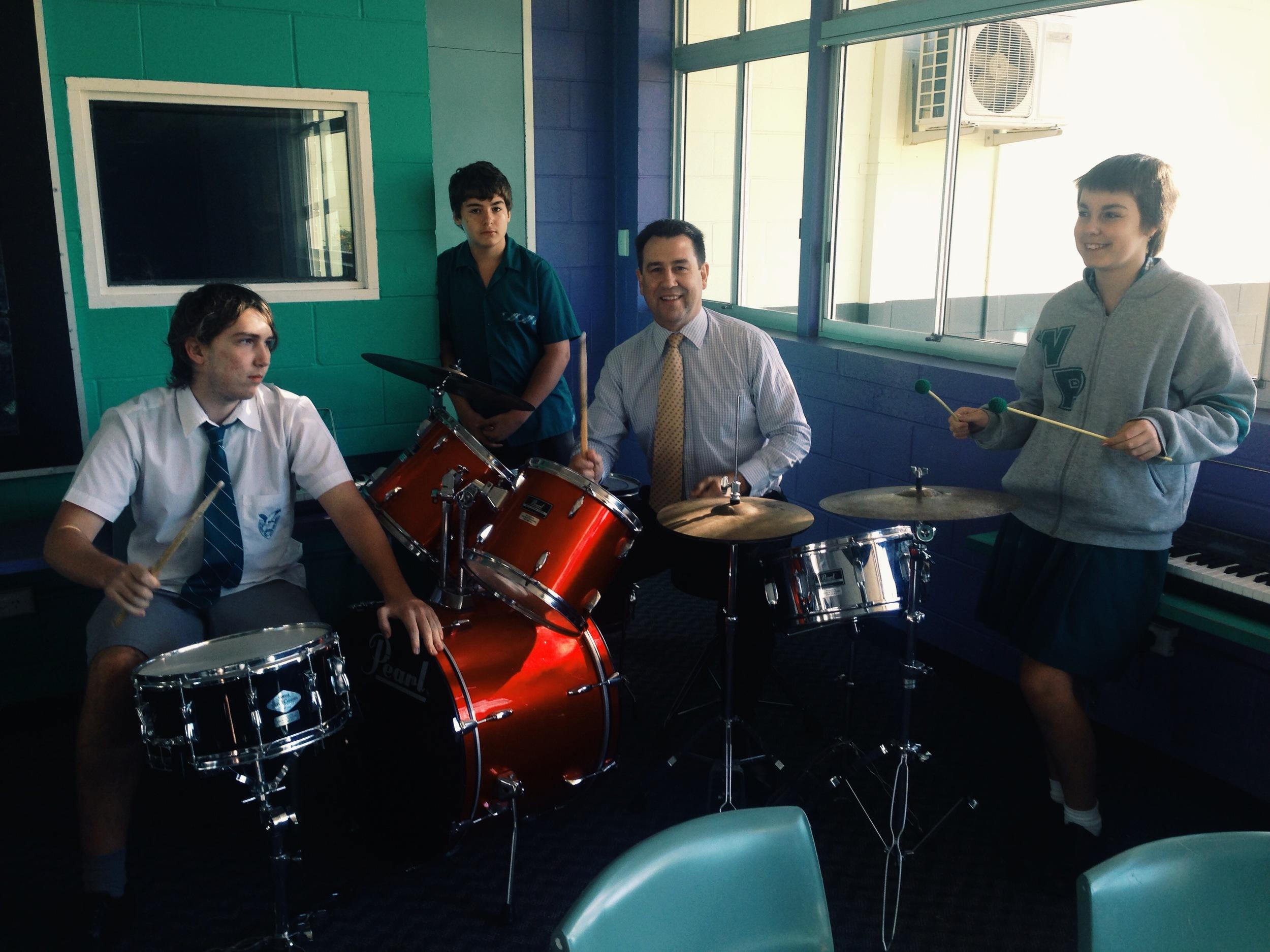 Mark Robinson at Wellington Point State High School