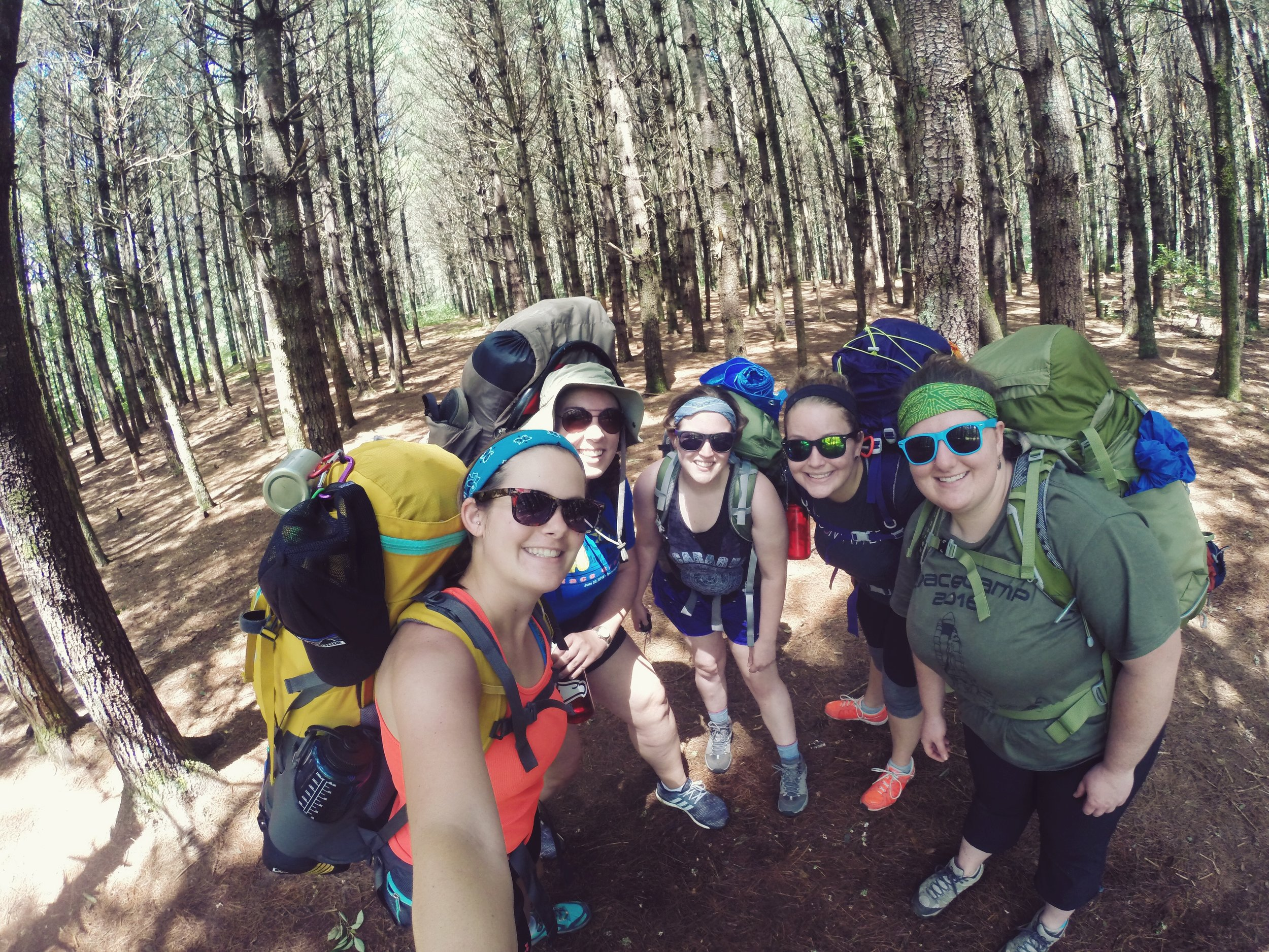 First time backpacking in Panthertown with the ladies!
