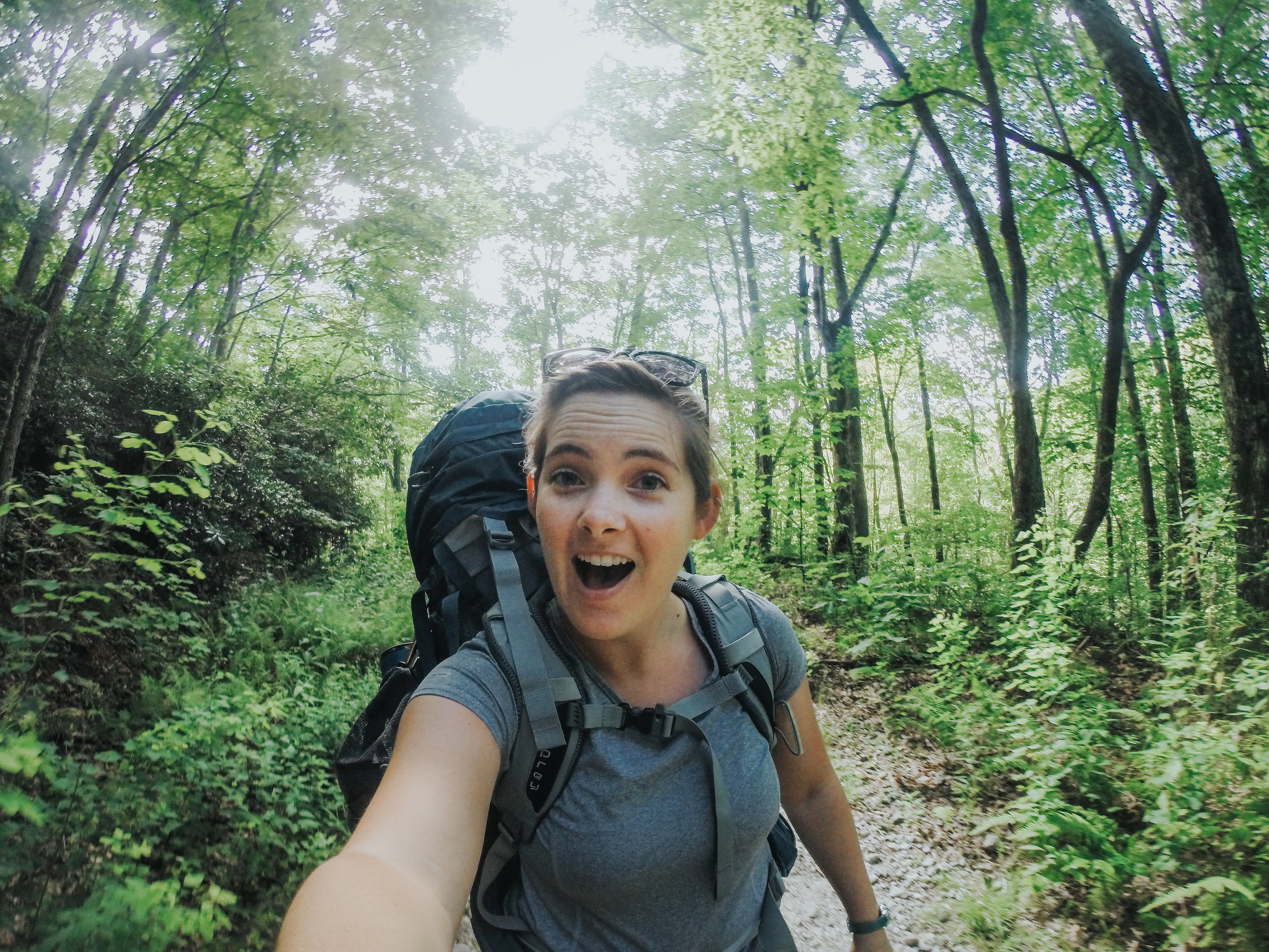 Backpacking in Panthertown Valley.