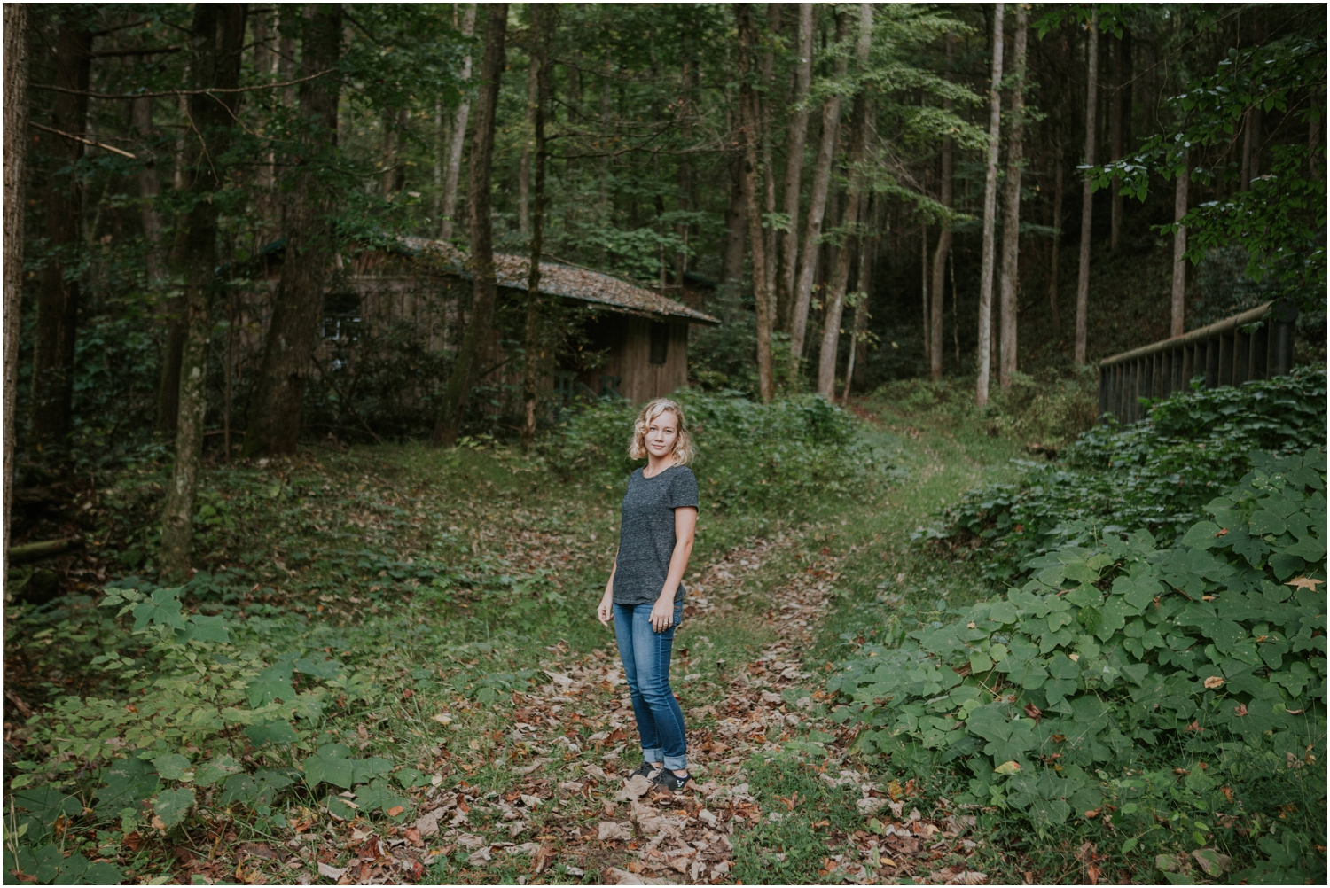 She helped me scout locations and test the light for an upcoming wedding at the Camp at Buffalo Mountain!