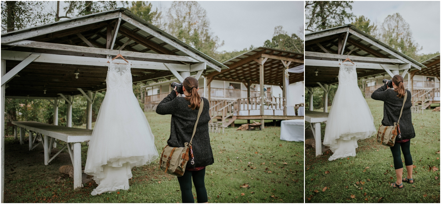 Capturing the dress at Kaity and Kyle's wedding!