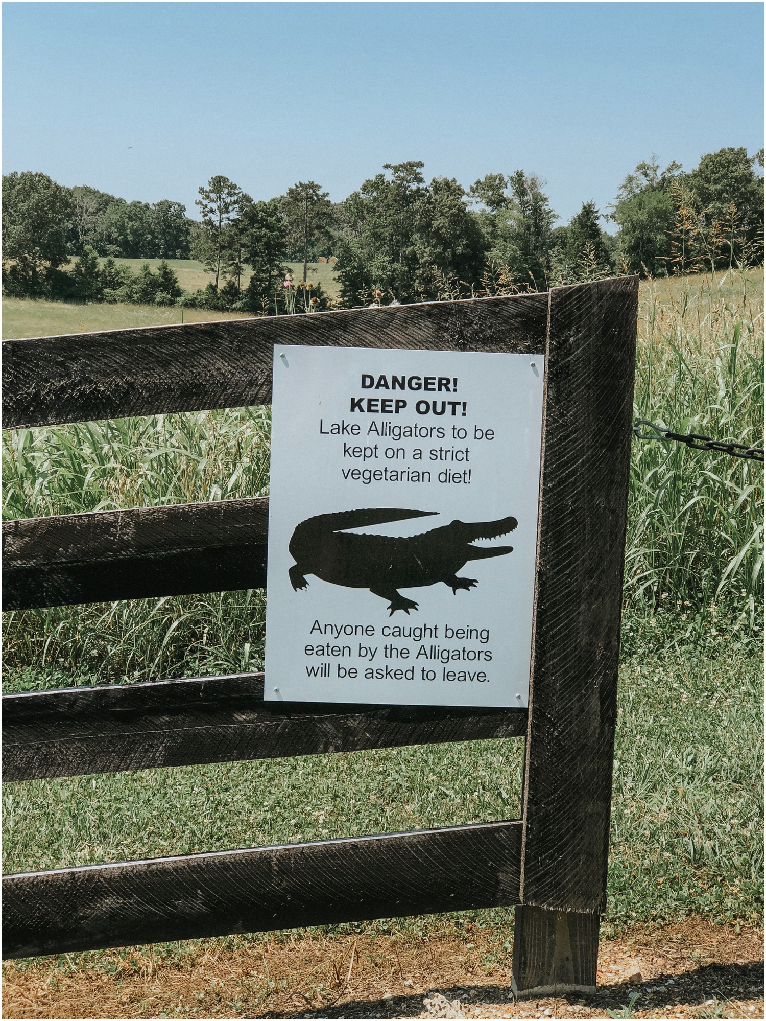 One of the best signs I've seen, found at Howe Farms at Celeste and Nate's wedding!