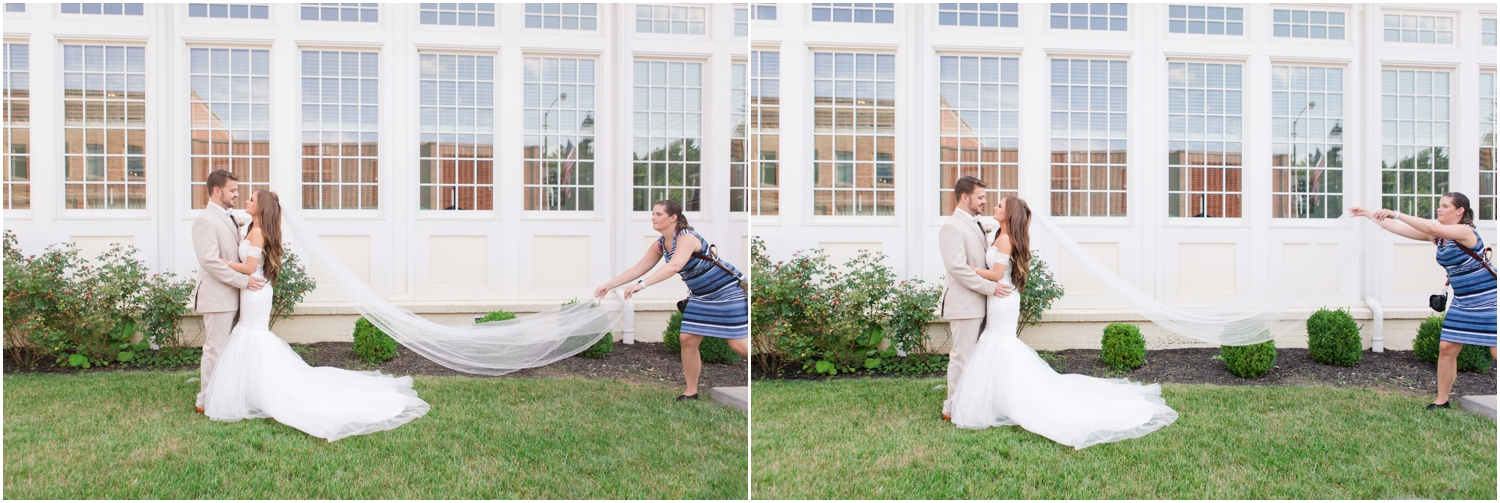 Tossin' that veil for the magic veil shot!