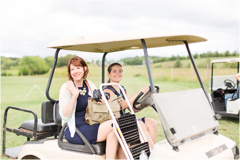Golf cart rides with Amanda...
