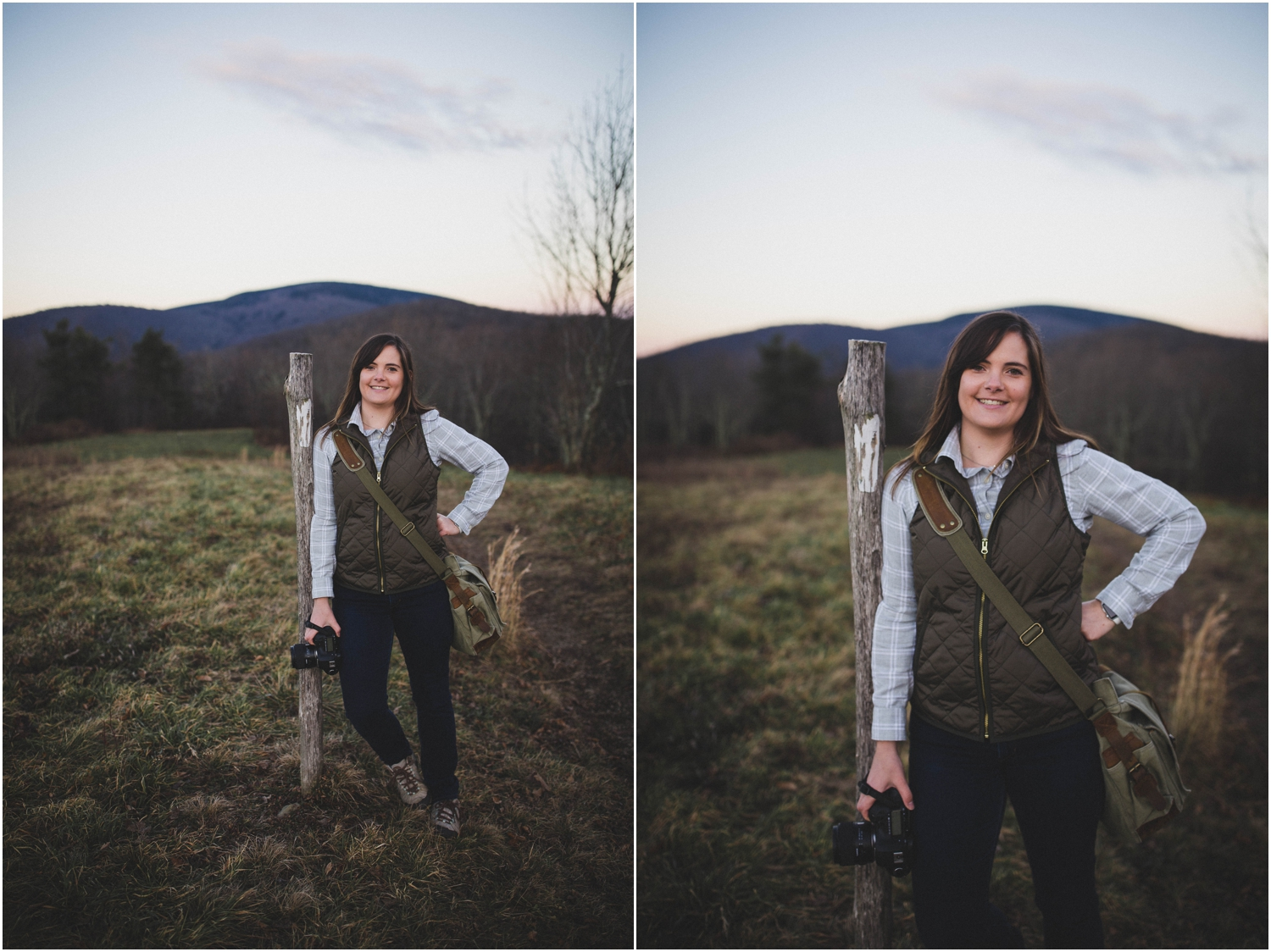 The Appalachian Trail holds a special place in my heart. So glad that Emily let me pose with a white blaze.