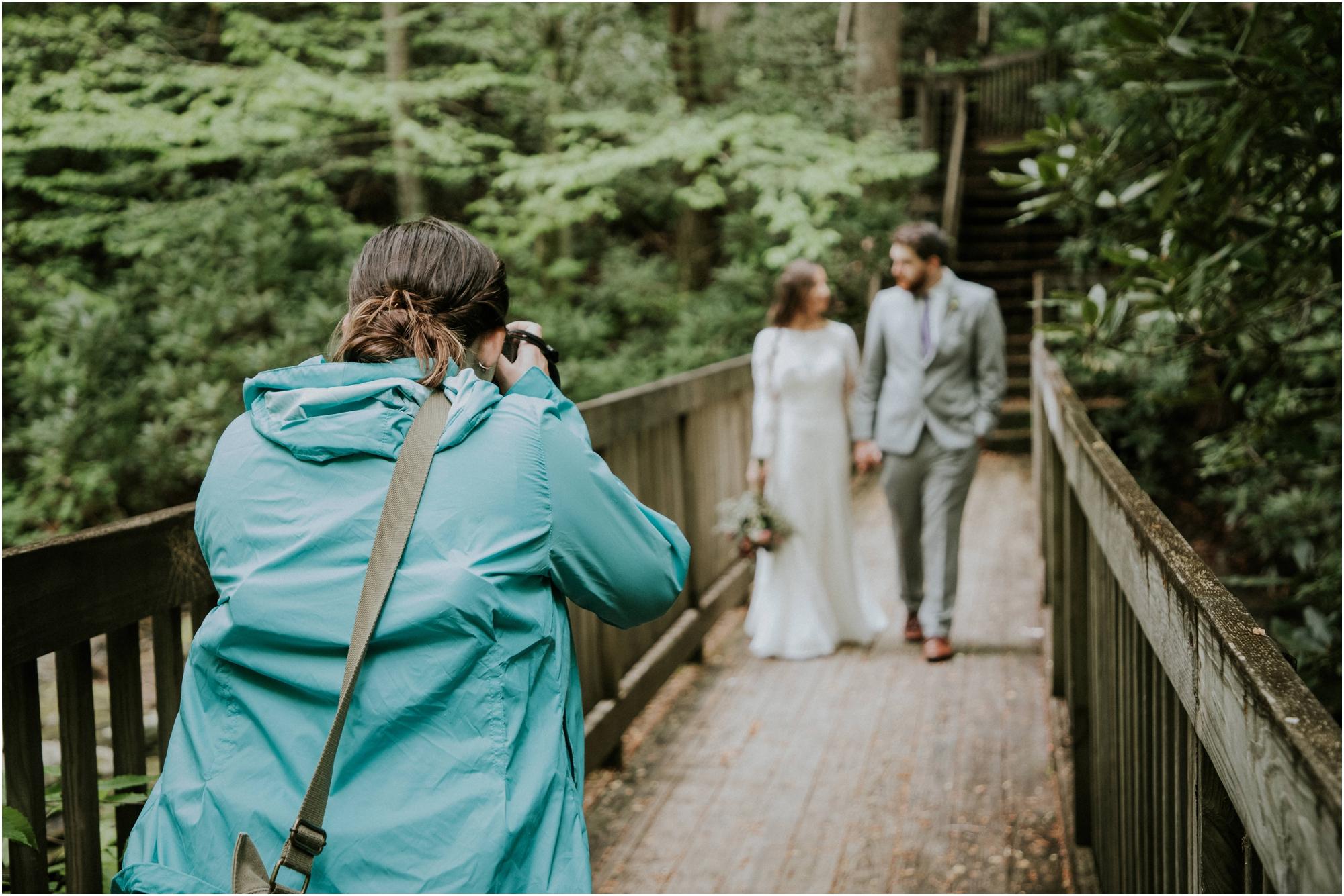 Yes, I love my turquoise rain coat. PHOTO:  Jeff Payne Photography