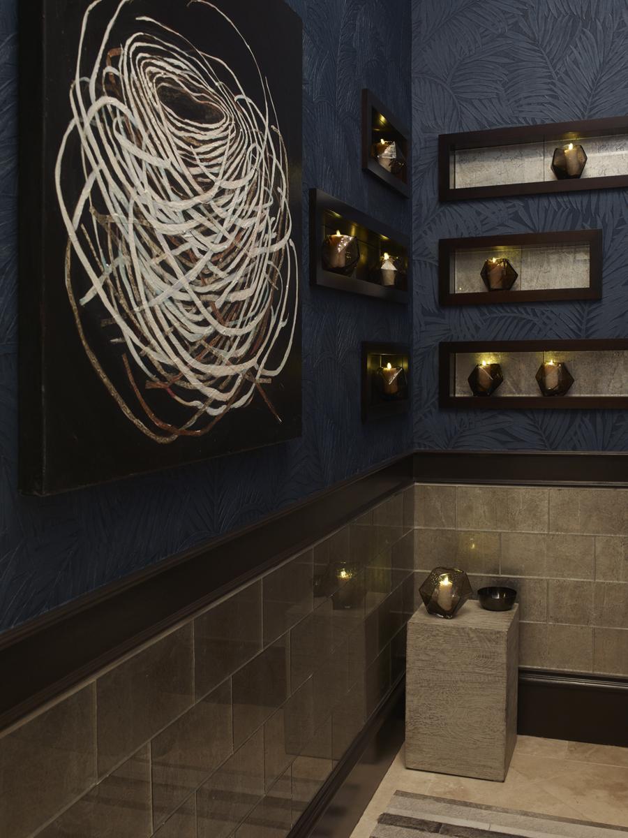 2015 atlanta symphony orchestra's decorators show house and gardens, terrace level powder bathroom   emily jenkins followill photo