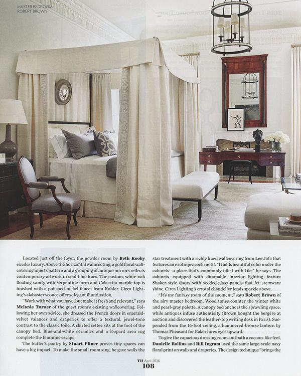 my little blurb right under robert brown's room photo!!! fabulous!!