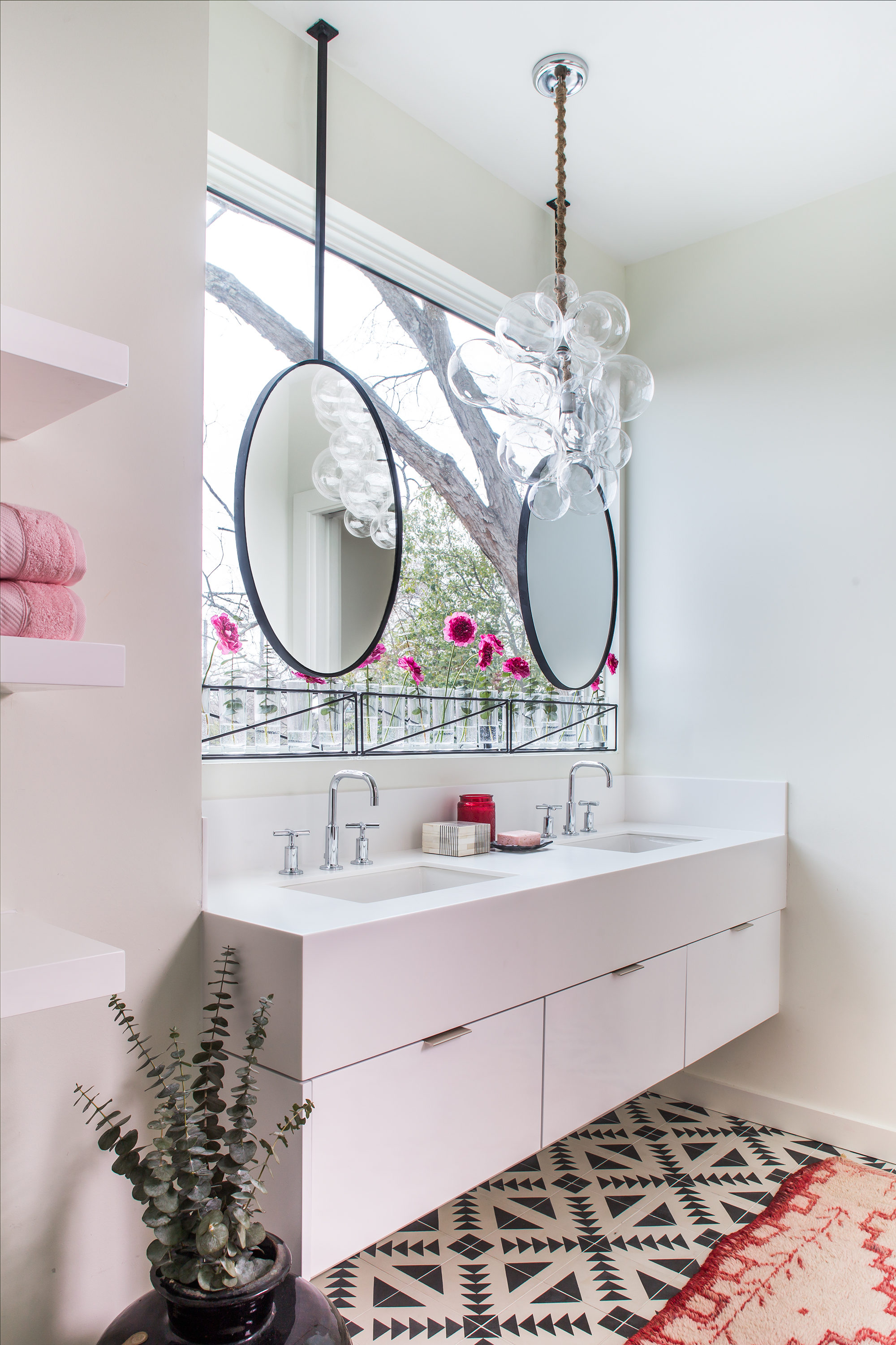 modern on connecticut ave master bath | jeff herr photography