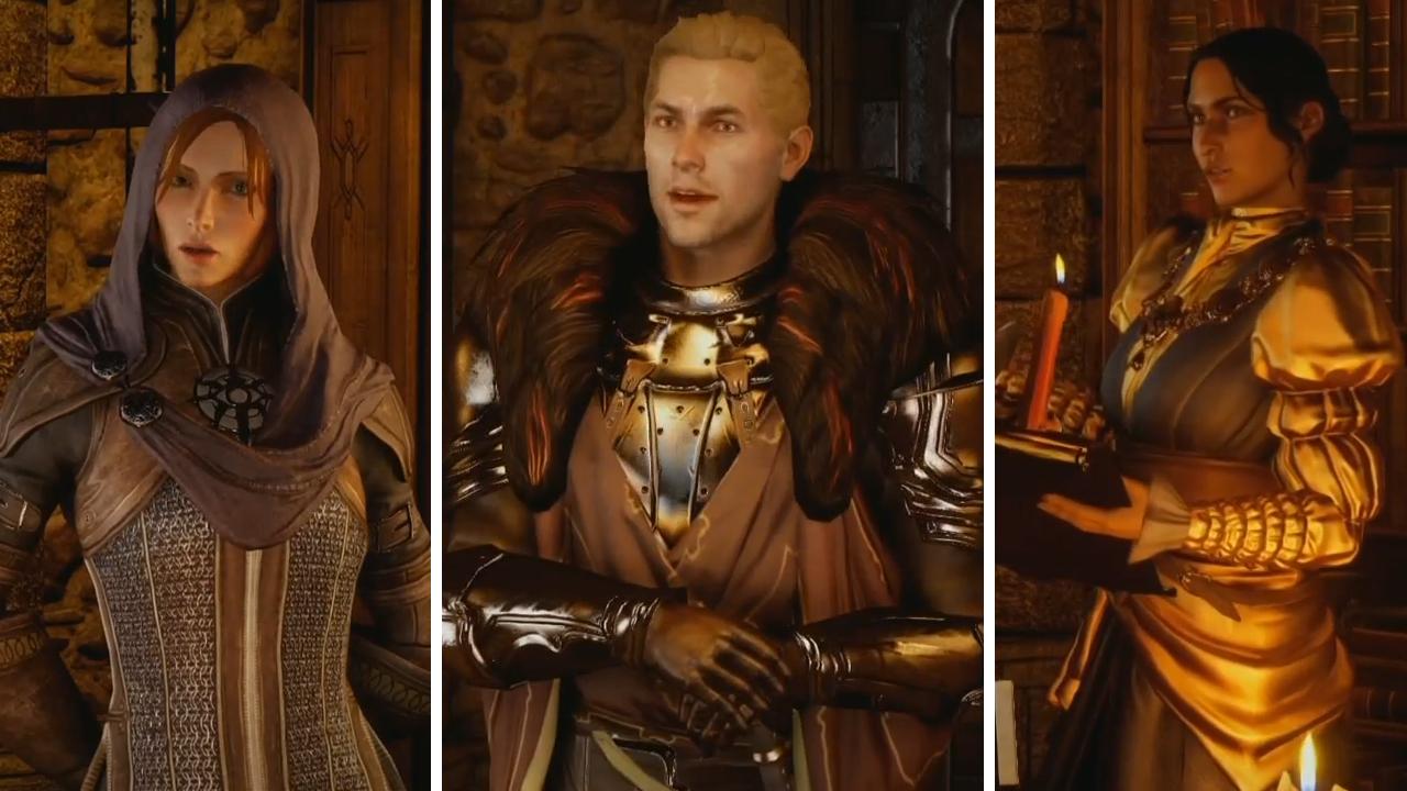 Left to Right: Leliana, Cullen, Josephine Montilyet.
