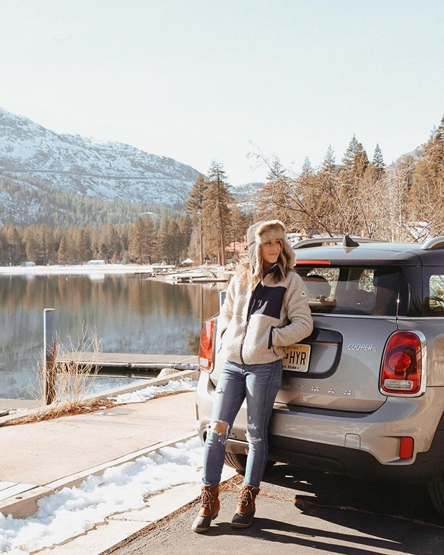 Nothing like road trip conversations and being on the road with @advicefroma20something!  See her North Lake Tahoe guide on her blog! || @miniusa #keeptahoeblue