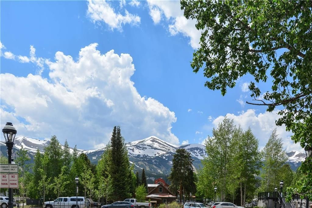 Views of the ski area are an attractive feature of this home.