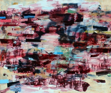 Stay Awhile My Inner Child, 2013 | 60 x 72 inches | Oil and Acrylic on Canvas