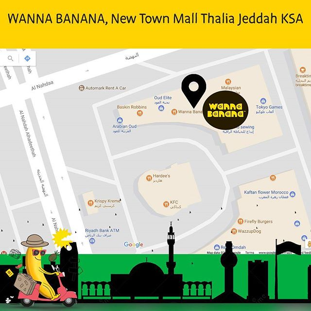 We are in Jeddah, have you been there yet?  #WannaBananaSnack #icecreams #bananaicecream #icecreamtime جيلاتو# مثلج# بوظة# بوظة#جيلاتو# مثلج# مثلج.#  #instajeddah #jeddahrestaurants #goBananas