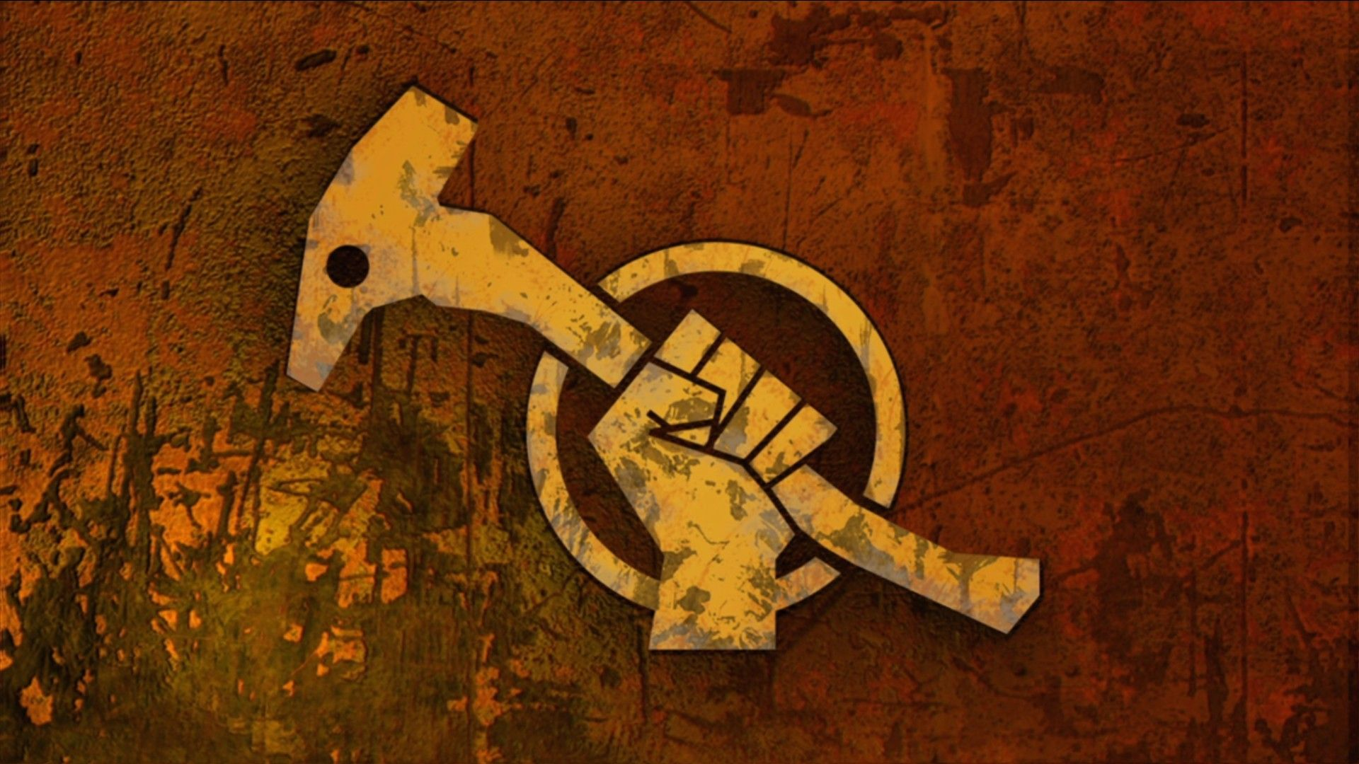 Red Faction: Guerilla's  logo is heavily inspired by constructivist art from Russian propaganda from the early 1900s.