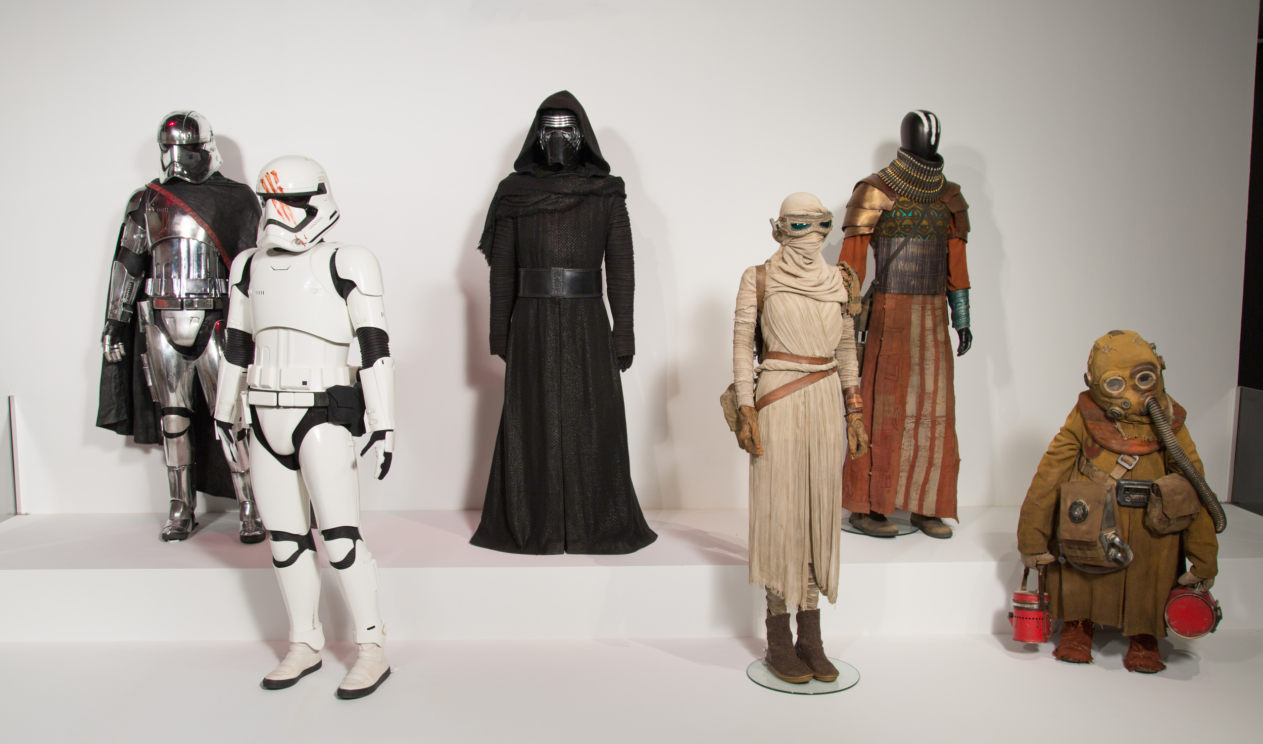 """Star Wars: Episode VII - The Force Awakens"" costumes by Michael Kaplan, . These costumes can be seen in the 24th Annual ""Art of Motion Picture Costume Design"" exhibition, FIDM Museum, Fashion Institute of Design & Merchandising, Los Angeles. The exhibition is free to the public, Tuesday, February 9 through Saturday, April 30, 2016, 10:00 a.m. - 5:00 p.m. .(Photo: Alex J. Berliner/ABImages)"
