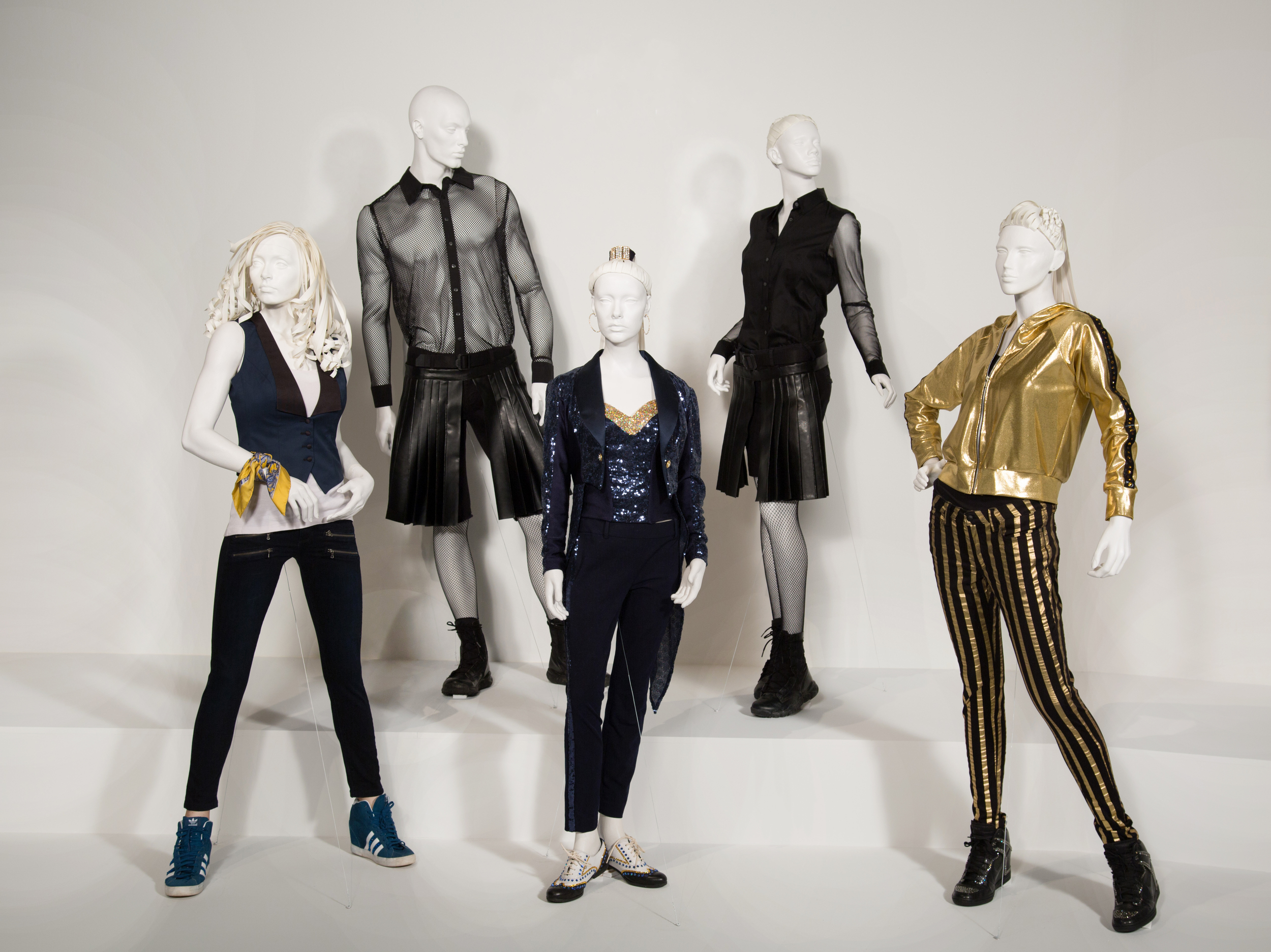 """Pitch Perfect 2"" costumes by Costume Designer, Salvador Perez Jr. These costumes can be seen in the 24th Annual ""Art of Motion Picture Costume Design"" exhibition, FIDM Museum, Fashion Institute of Design & Merchandising, Los Angeles. The exhibition is free to the public, Tuesday, February 9 through Saturday, April 30, 2016, 10:00 a.m. - 5:00 p.m. .(Photo: Alex J. Berliner/ABImages)"