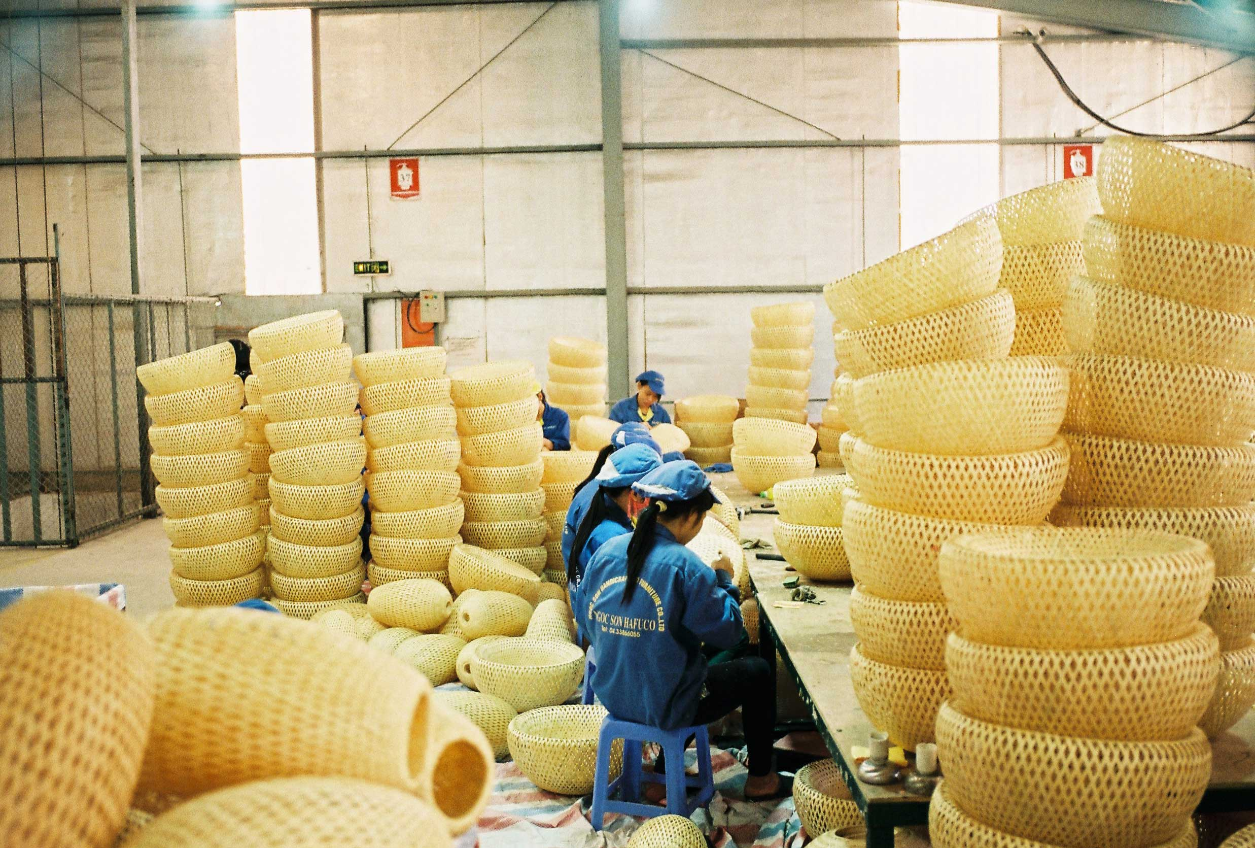 A bamboo crafts manufacture in Ha Tay - Viet Nam