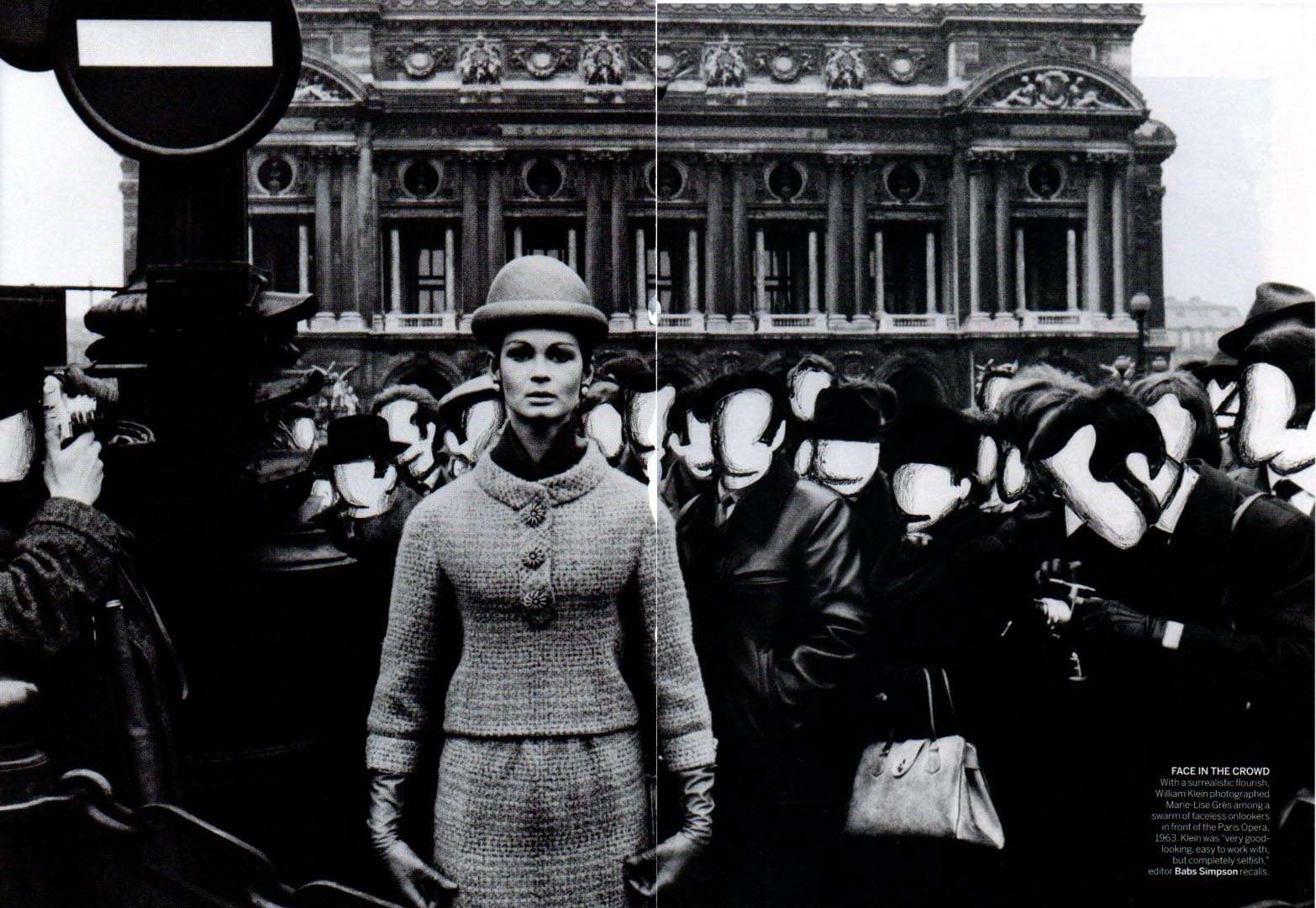 Photo by William Klein for Vogue, 1963. Fashion Editor Babs Simpson