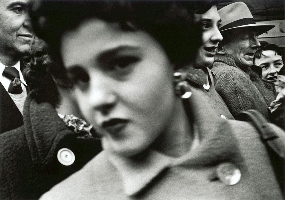 Big Face, Big Buttons, New York, Etats-Unis, 1955