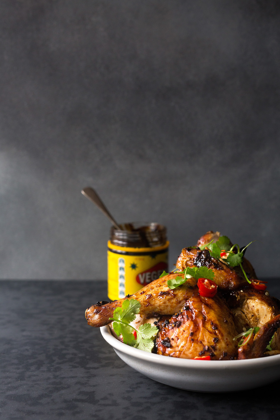 vegemite smoked maple roast chicken