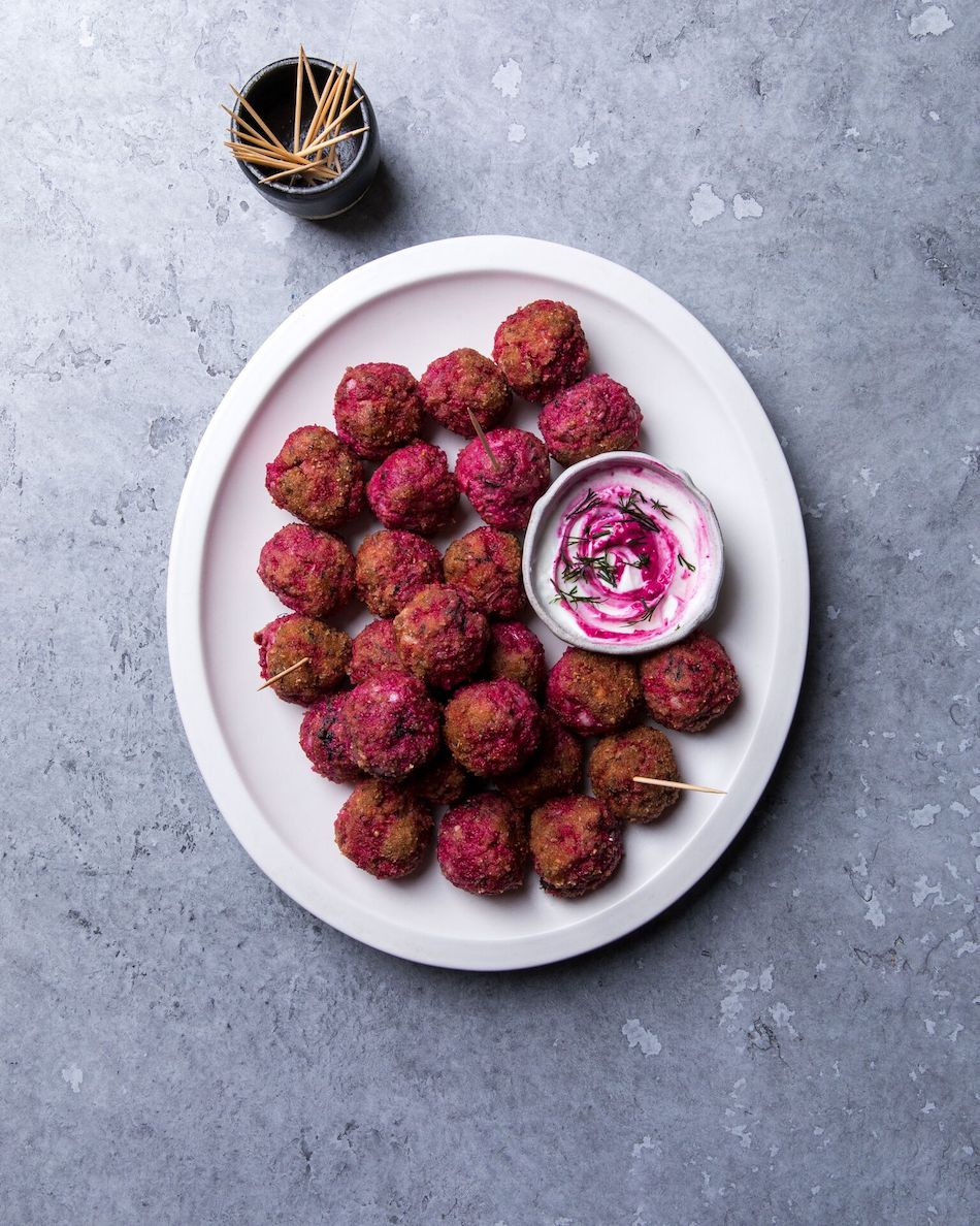 beetroot meatballs