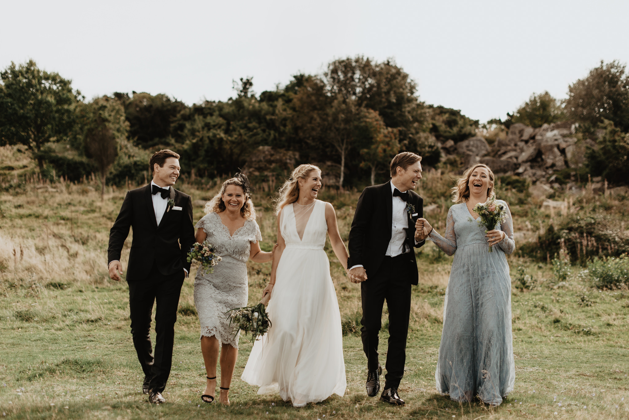 Brudfölje vid bröllop på Hovs Hallar