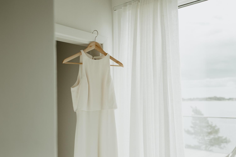 Iva crepe maxi wedding dress by BHLDN