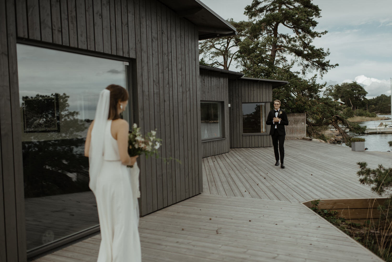 Känslosam first look på bröllop i Norrköping
