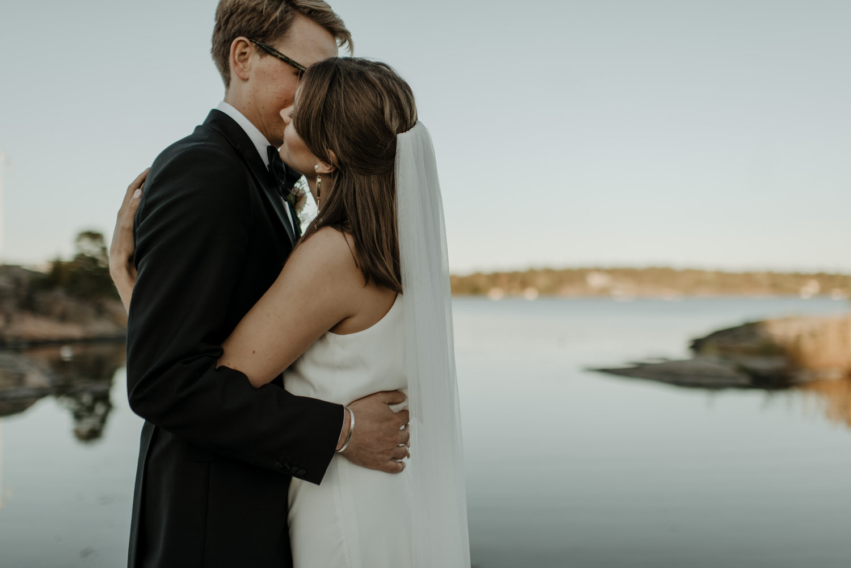 Skärgårdsbröllop porträtt