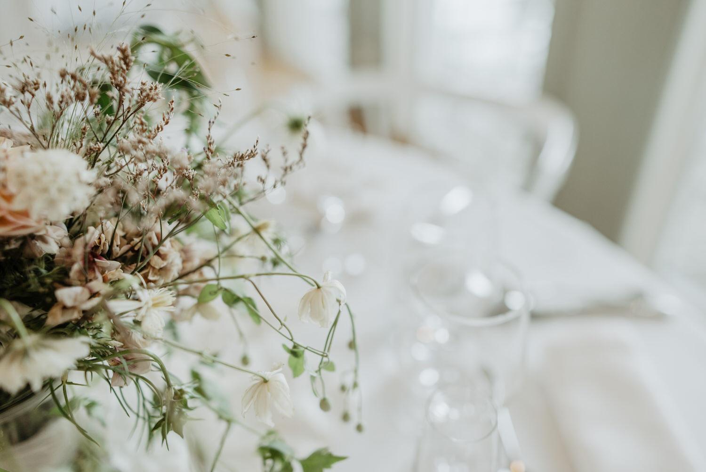 Bordsdekoration bröllop på Arkösunds Hotell
