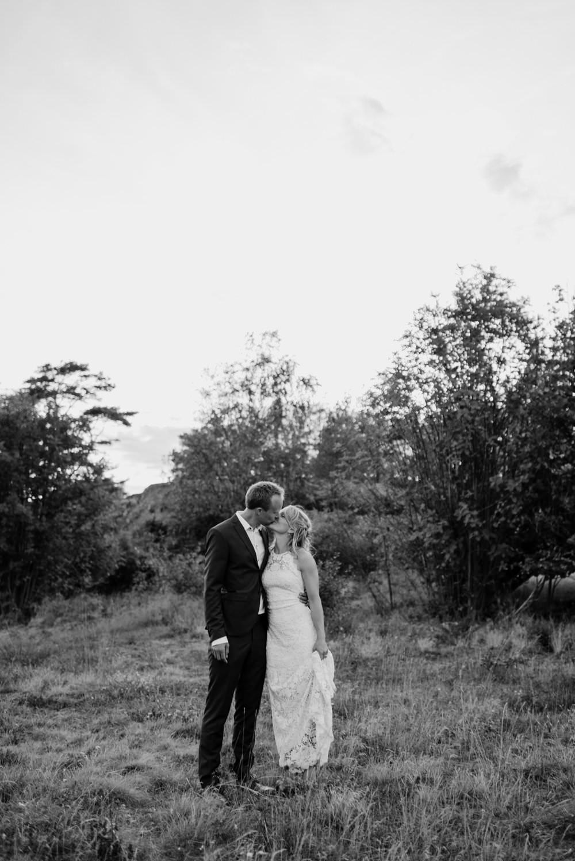 Klassiskt bröllopsporträtt på Sydkoster