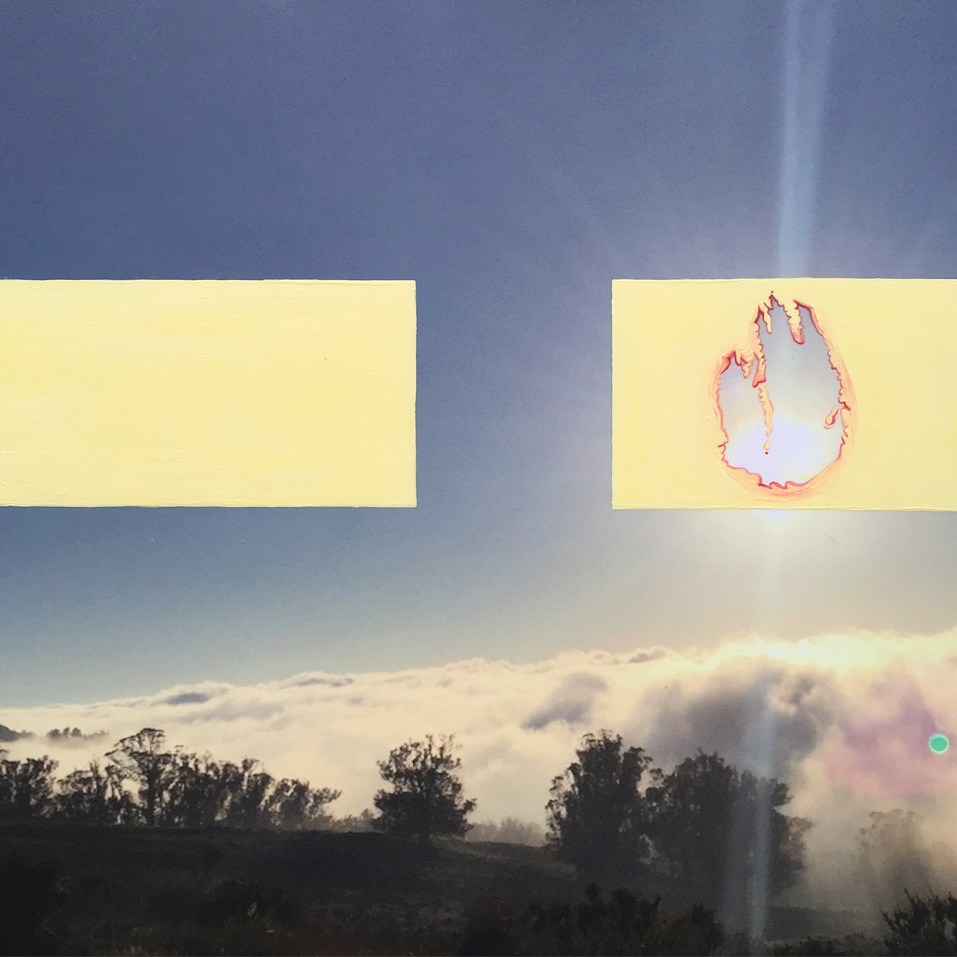 "Lighter days will soon begin - 10 x 10"", mixed media on birch panel, SOLD"