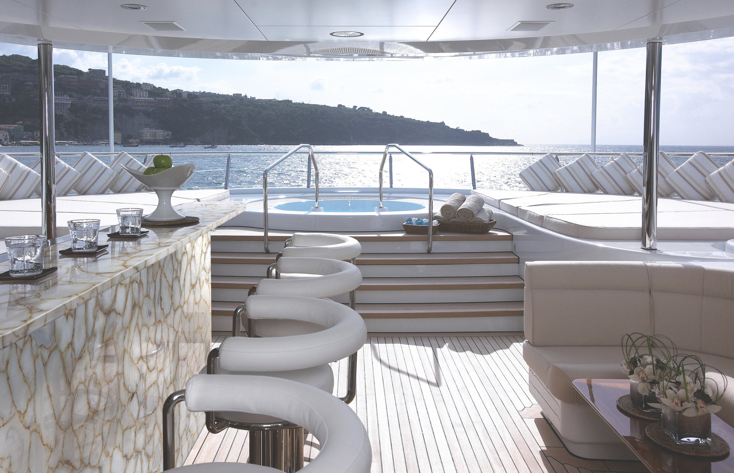 agate crystal with gold outdoor bar on Yacht.jpg