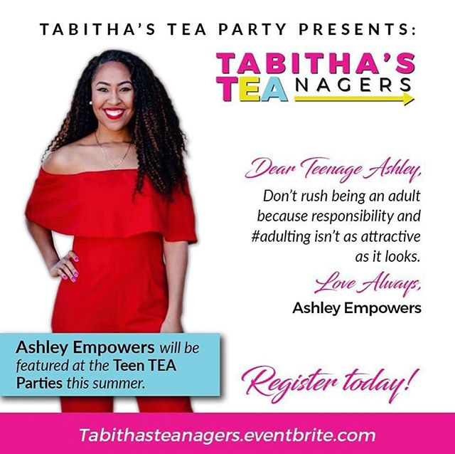 📍DALLAS, TX [Swipe Left] . . If you have a friend, sister, cousin or know anyone who is a teenage girl have them attend a Tabitha's Tea Party this summer! I will be speaking on pursuing your dreams by faith on June 16th & you still have time to register! Make sure your teens have a seat at the table💕 . . Register 👉🏽 TabithasTeaNagers.eventbrite.com