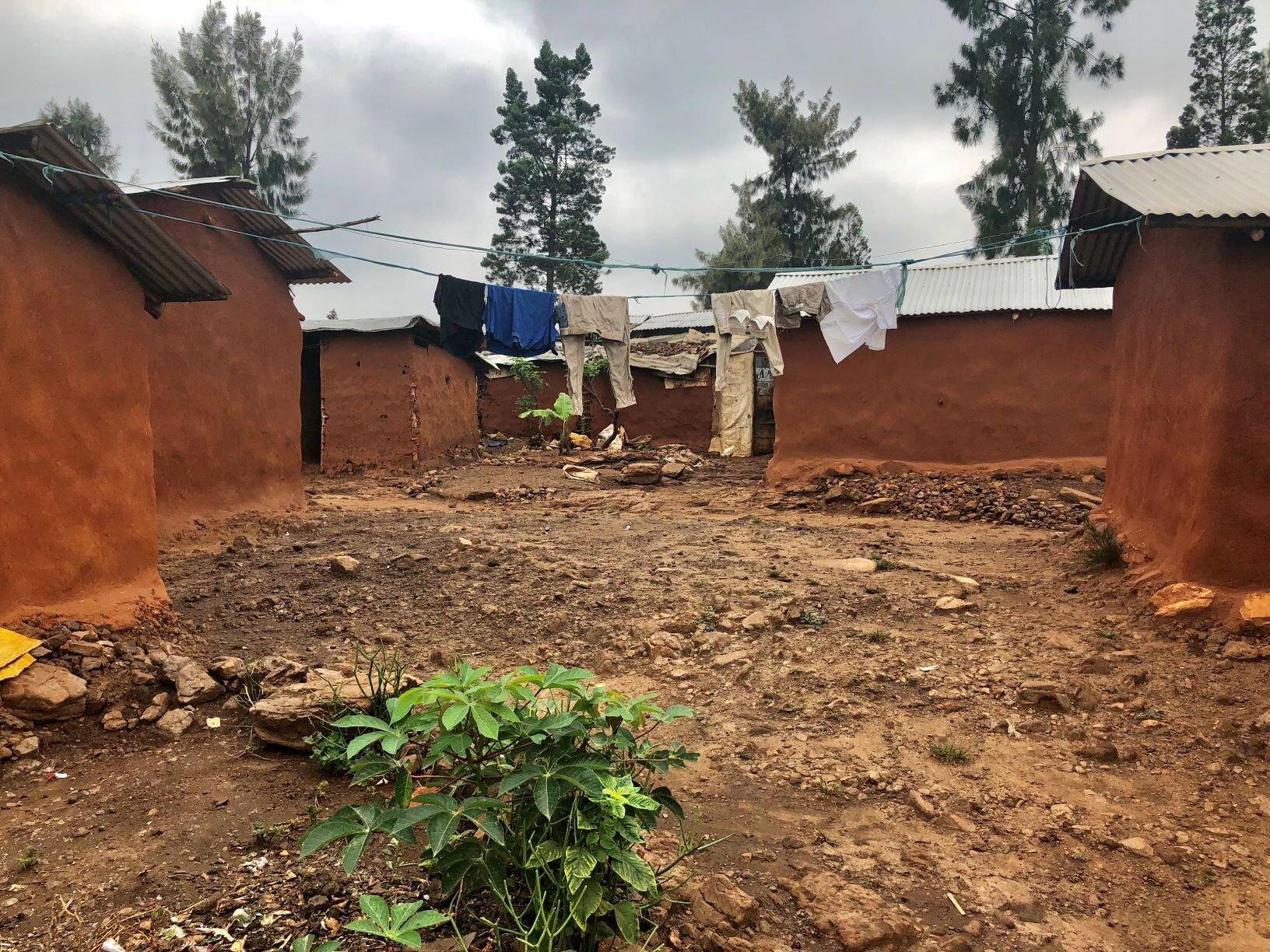 The backyard of a home in Nyabiheke Camp, Rwanda. (HEED, 2019)