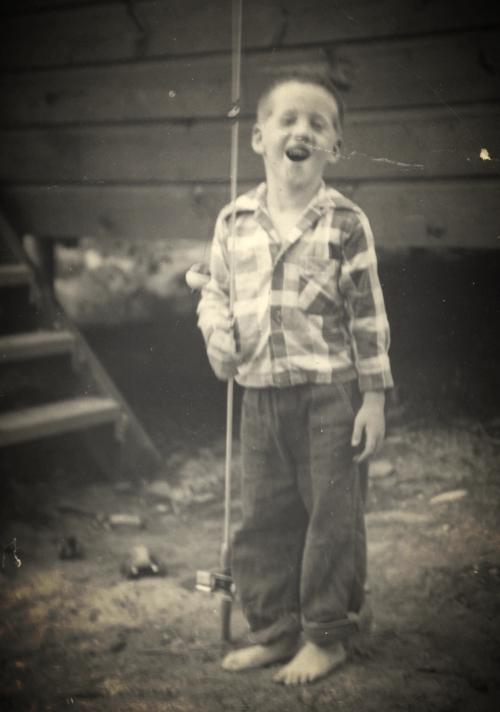 Paul David Callahan, at Lake Winnipesaukee, Age 5