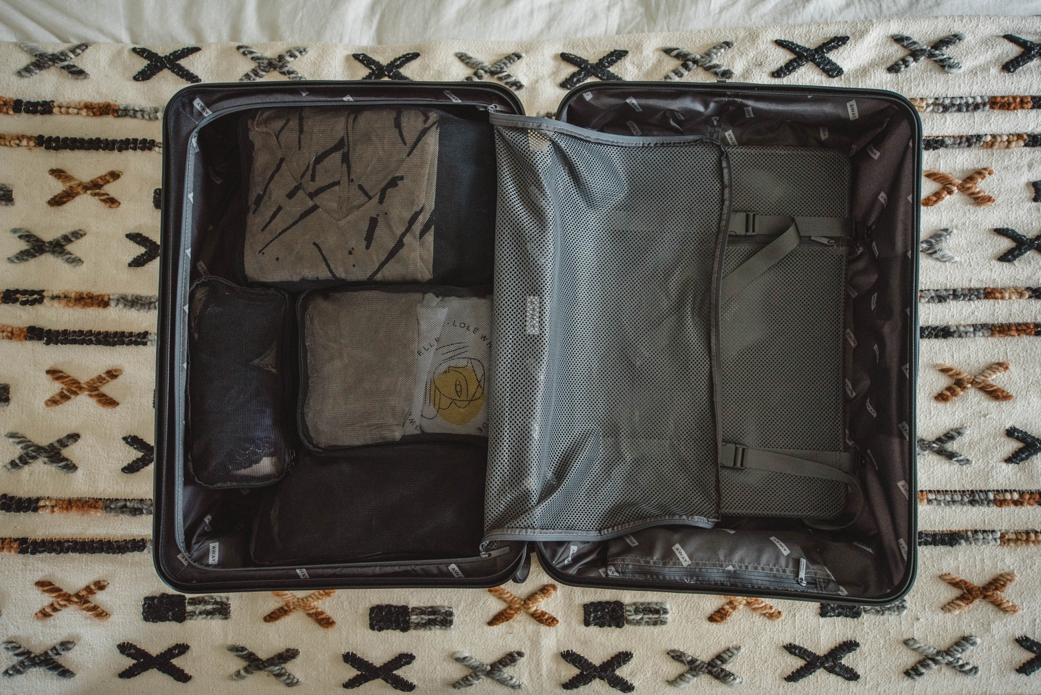 Featured here is  4 Away packing cubes  (I own the 6 pack) and the  Medium Sized Away Luggage  ||  Get $20 OFF your first order from Away