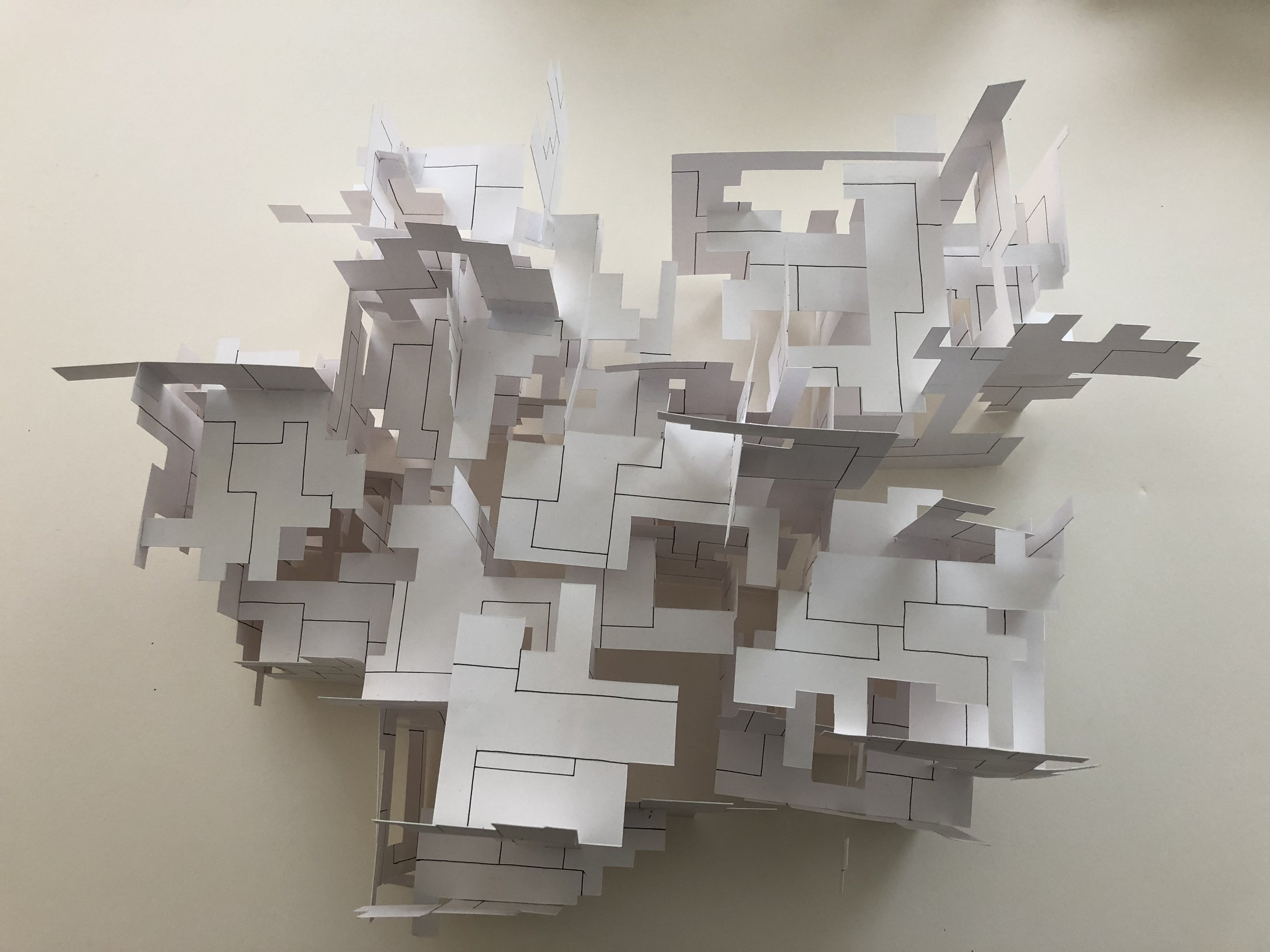 Massed Paper Constructions study