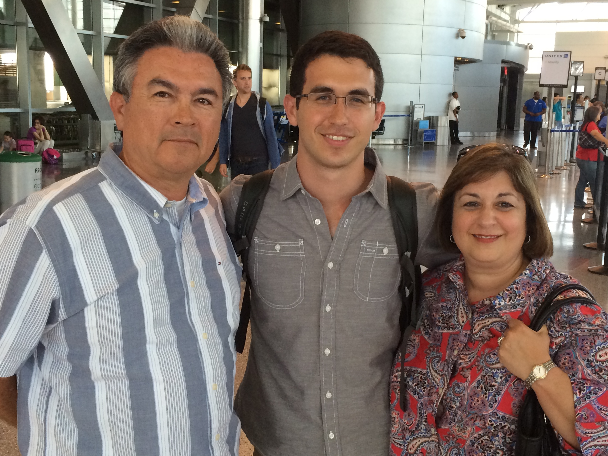 Adios Mom and Dad! See you in a year!