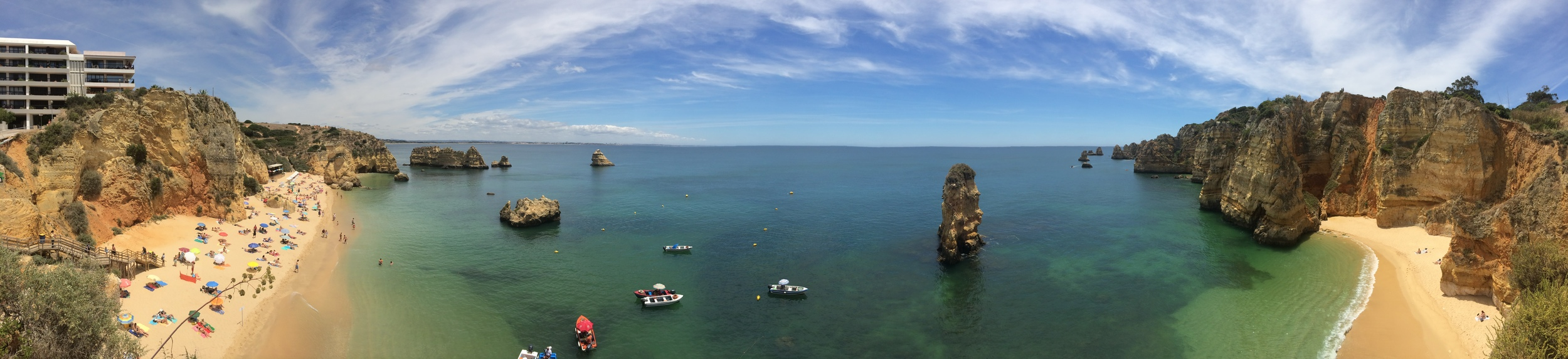 Panoramic shot from one of the numerous cliffs... every single vantage point looked this beautiful.