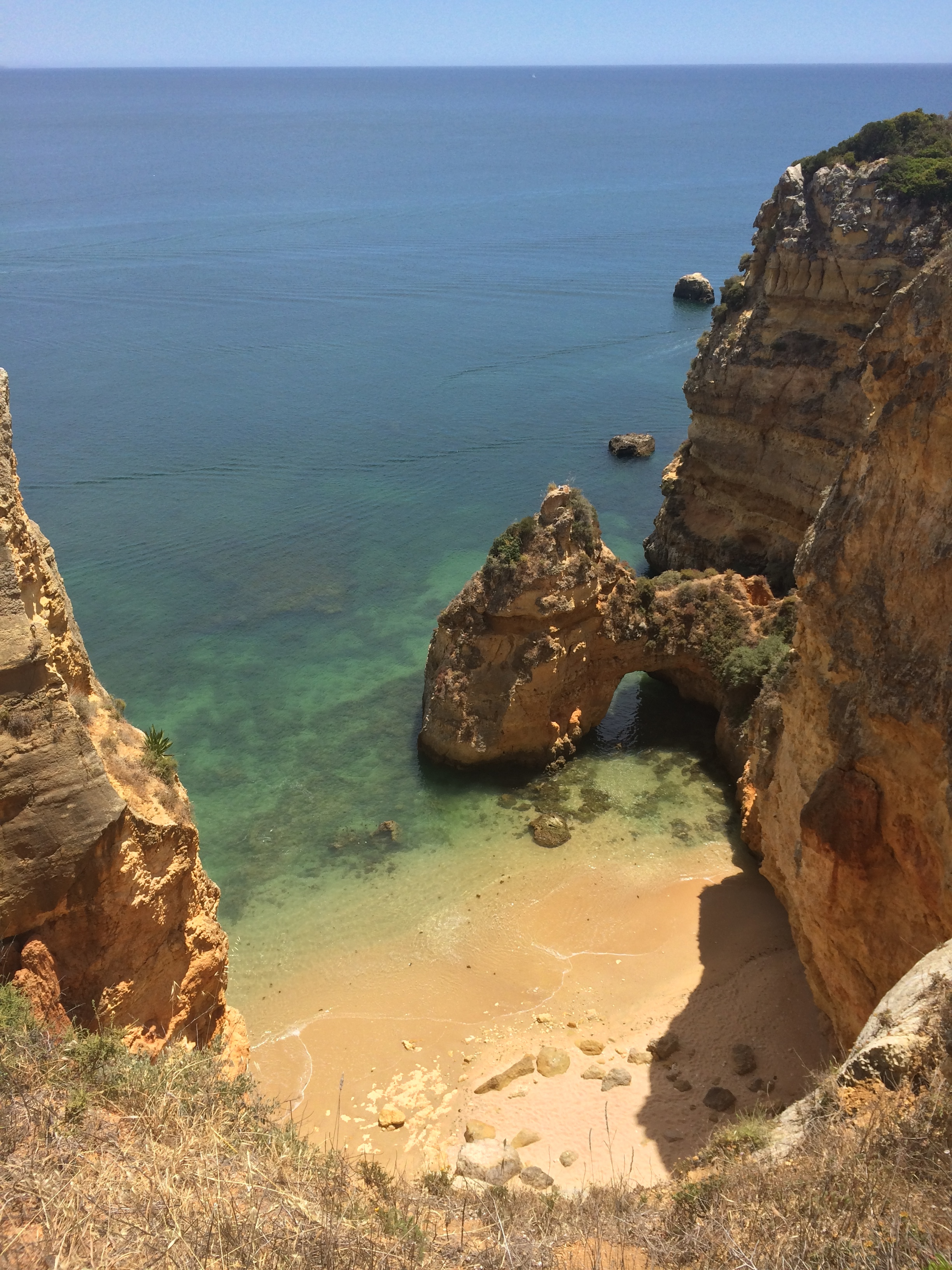 One example of the many secluded beaches. Such a tease, all you can do is look at it.