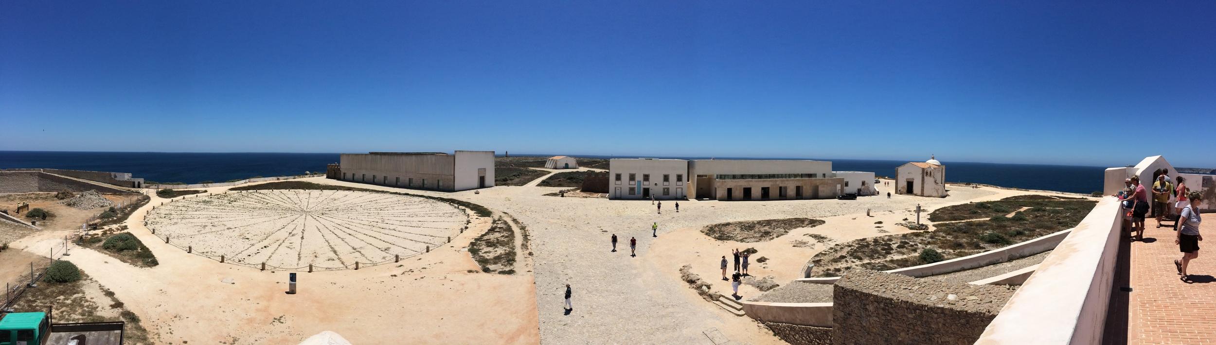 View of Ponta de Sagres from the top of the Fortaleza de Sagres.