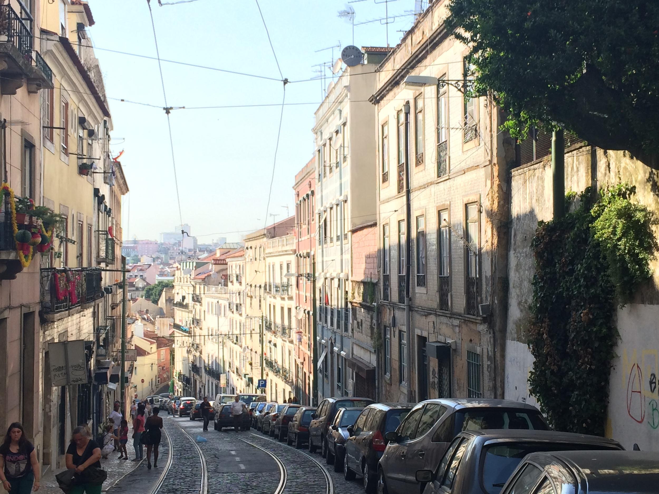 The wonderful streets of Lisbon.