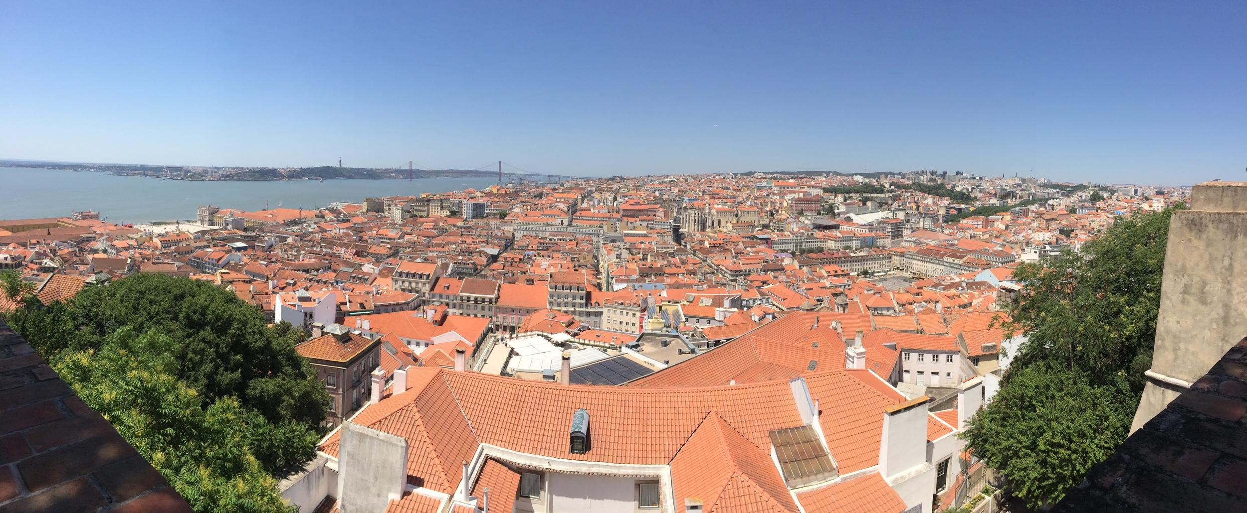 My view of Lisbon from the top of Castelo de São Jorge.