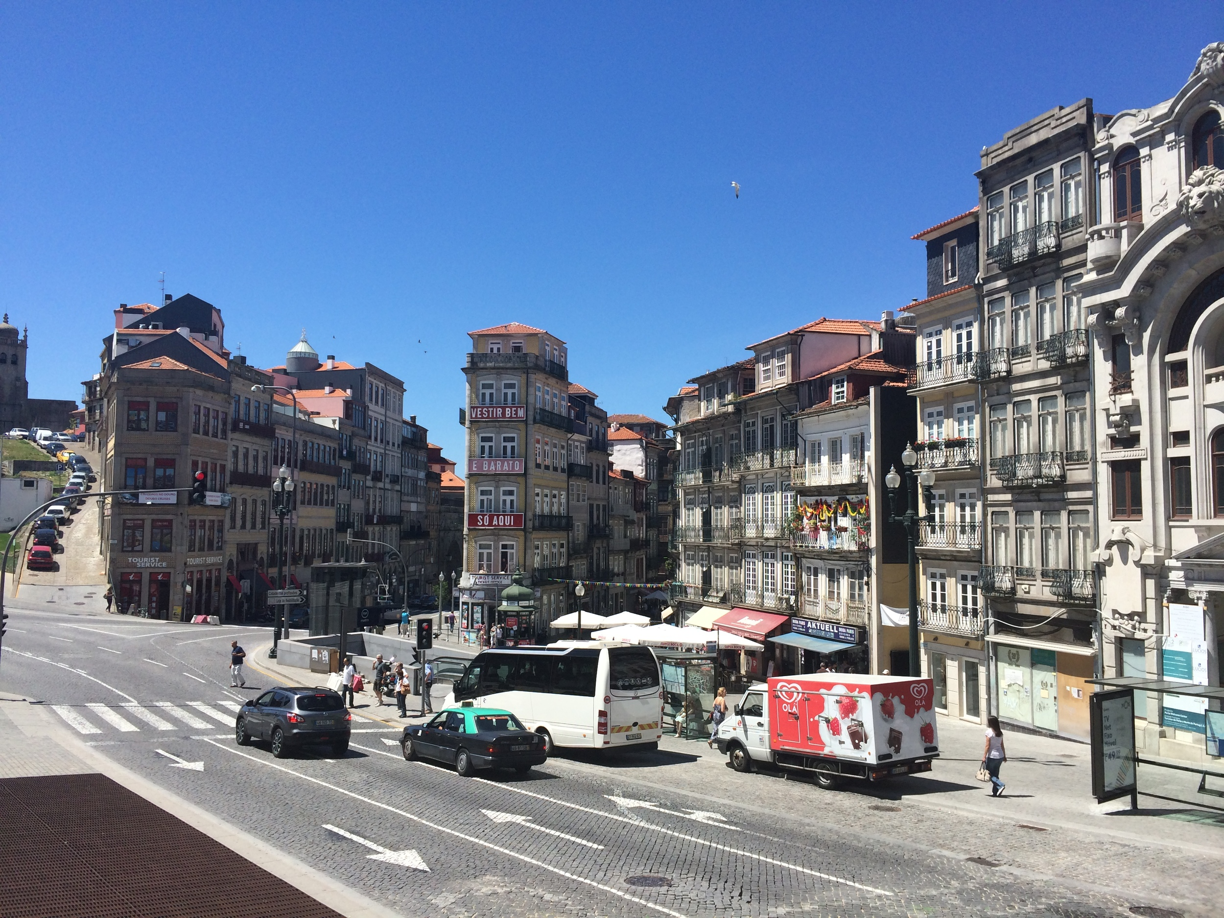 View of Porto from the main train station. Instead of finding my public viewing I got an impromptu tour of Porto.