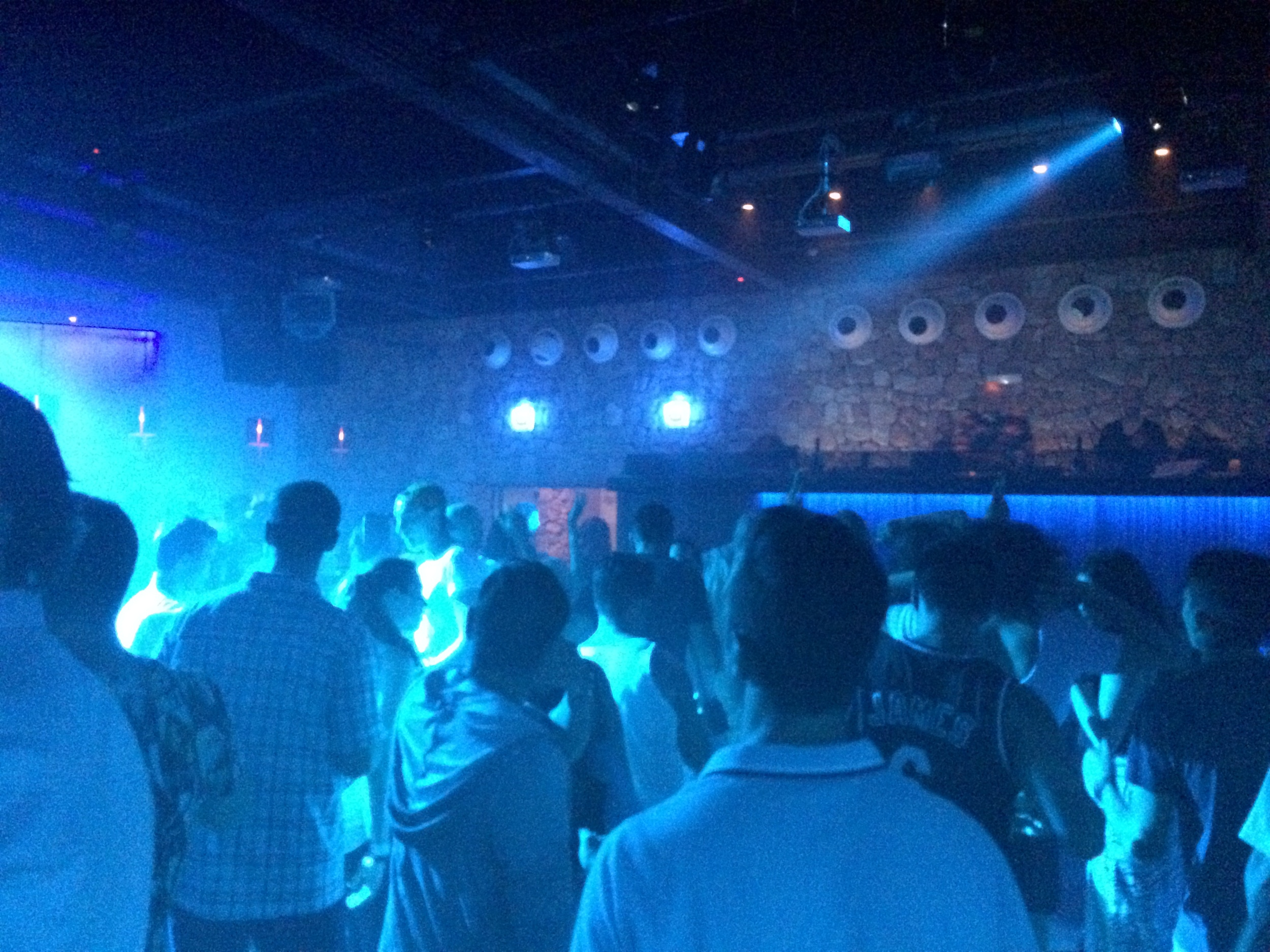 The main dance floor with the DJ booth.