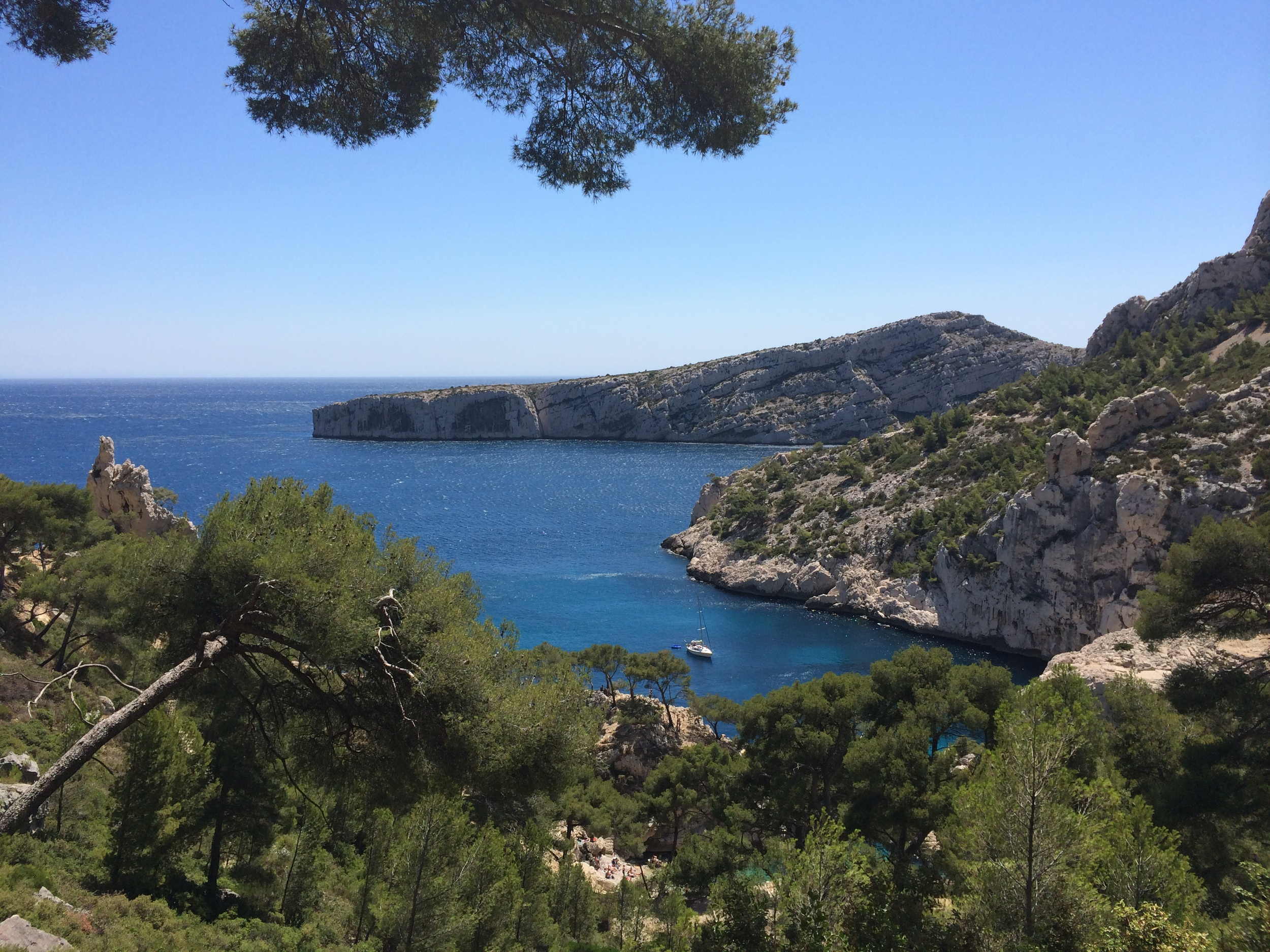 My view during the hike down to the Calanque de Sugiton.