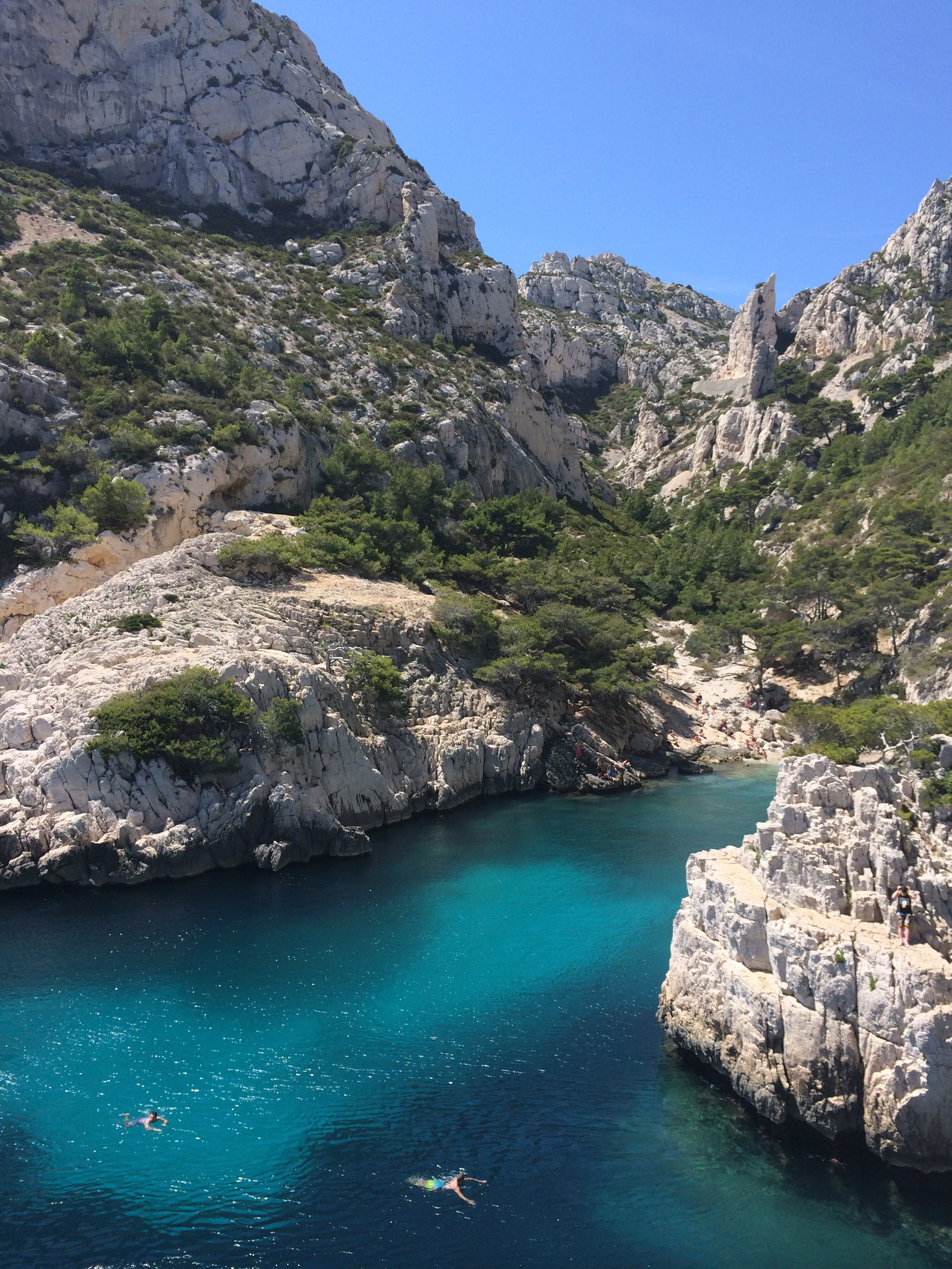 View from the bottom of Calanque de Sugiton.
